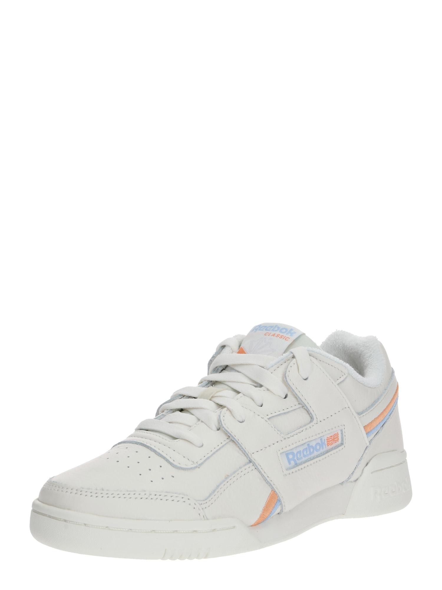 Reebok Classic Sportiniai batai 'WORKOUT PLUS' raudona / balkšva / šviesiai mėlyna