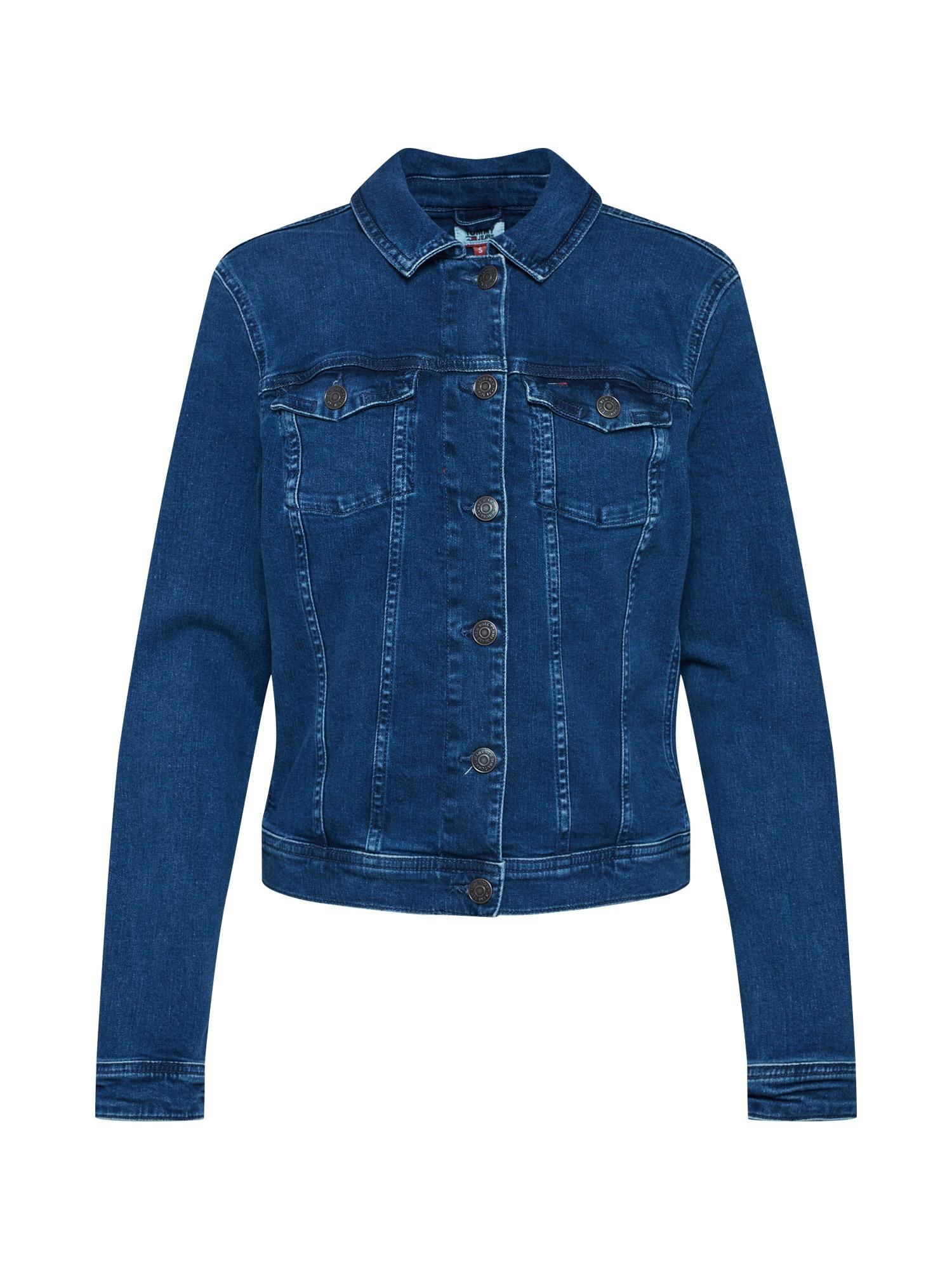 Přechodná bunda SLIM TRUCKER VIVIANNE OCTMD modrá džínovina Tommy Jeans