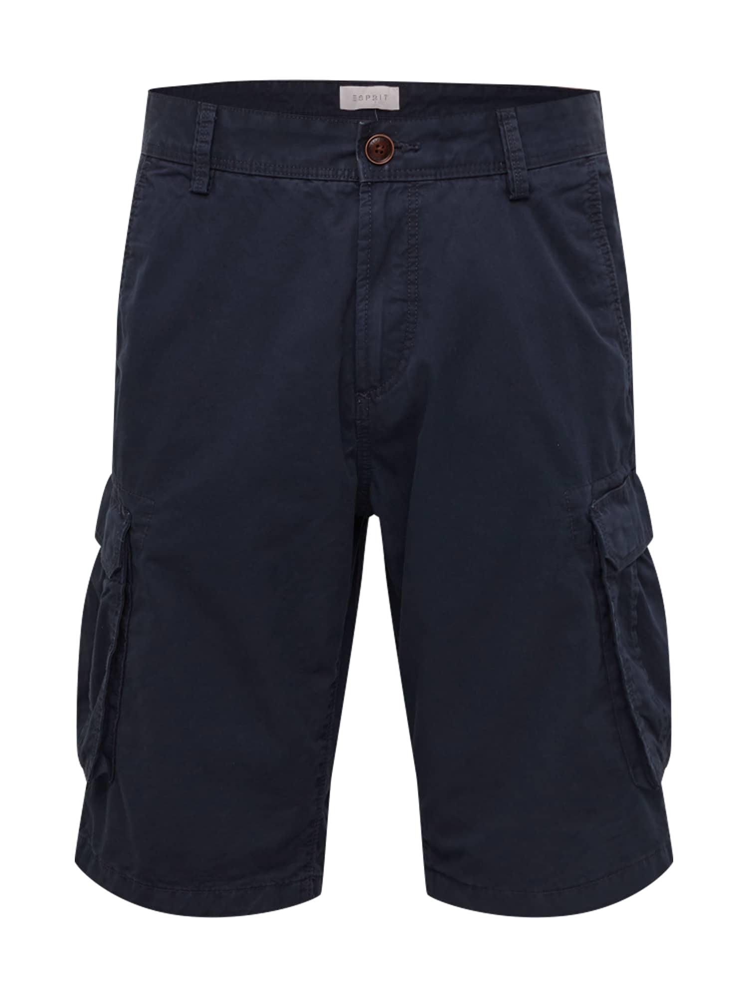 ESPRIT Laisvo stiliaus kelnės tamsiai mėlyna