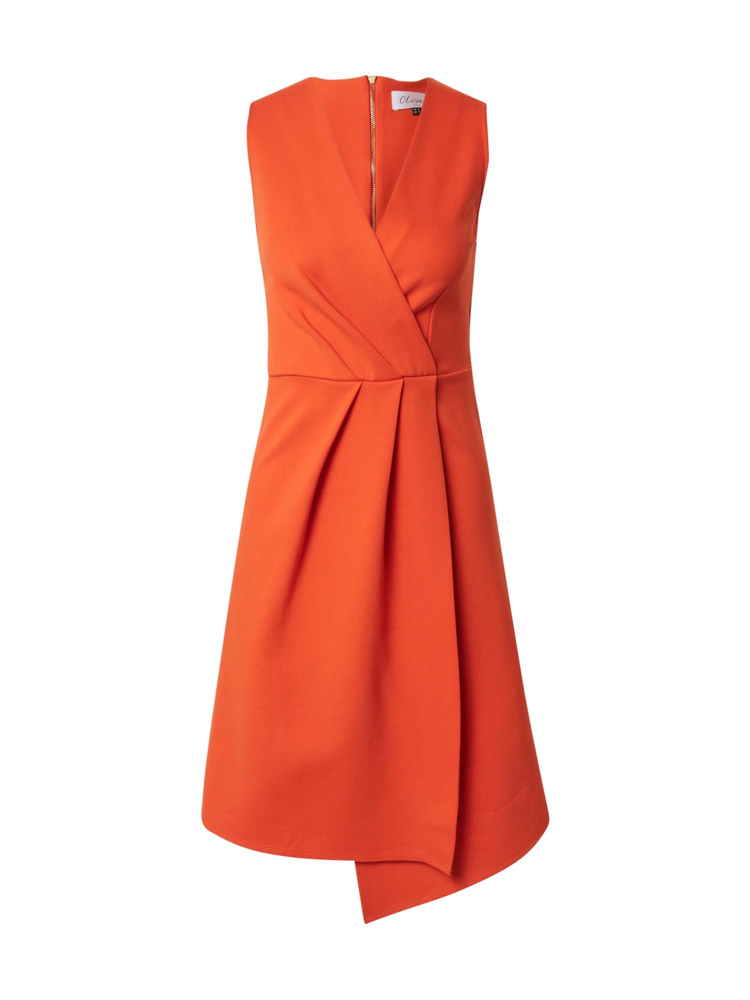 Closet London Kokteilinė suknelė oranžinė