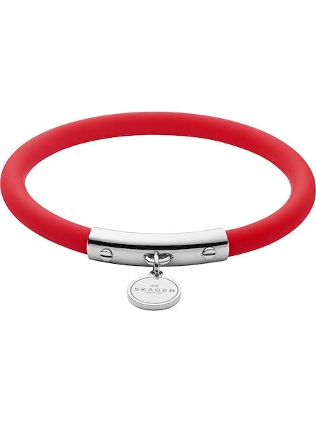 Armbaender für Frauen - SKAGEN Armband 'Aaren Kulor, Blakely, SKJ1280040' rot silber  - Onlineshop ABOUT YOU