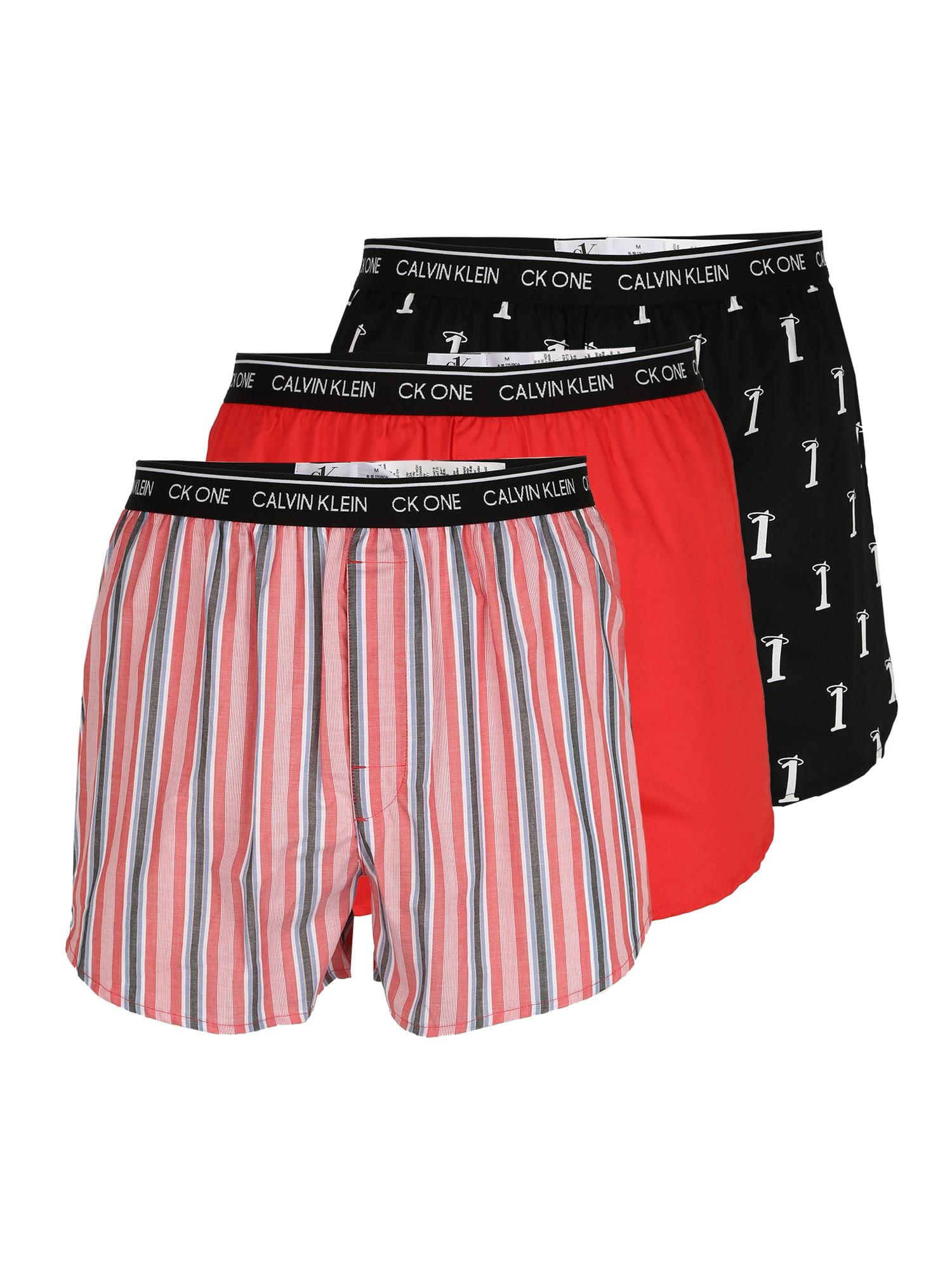 Calvin Klein Underwear Boxer trumpikės juoda / balta / raudona