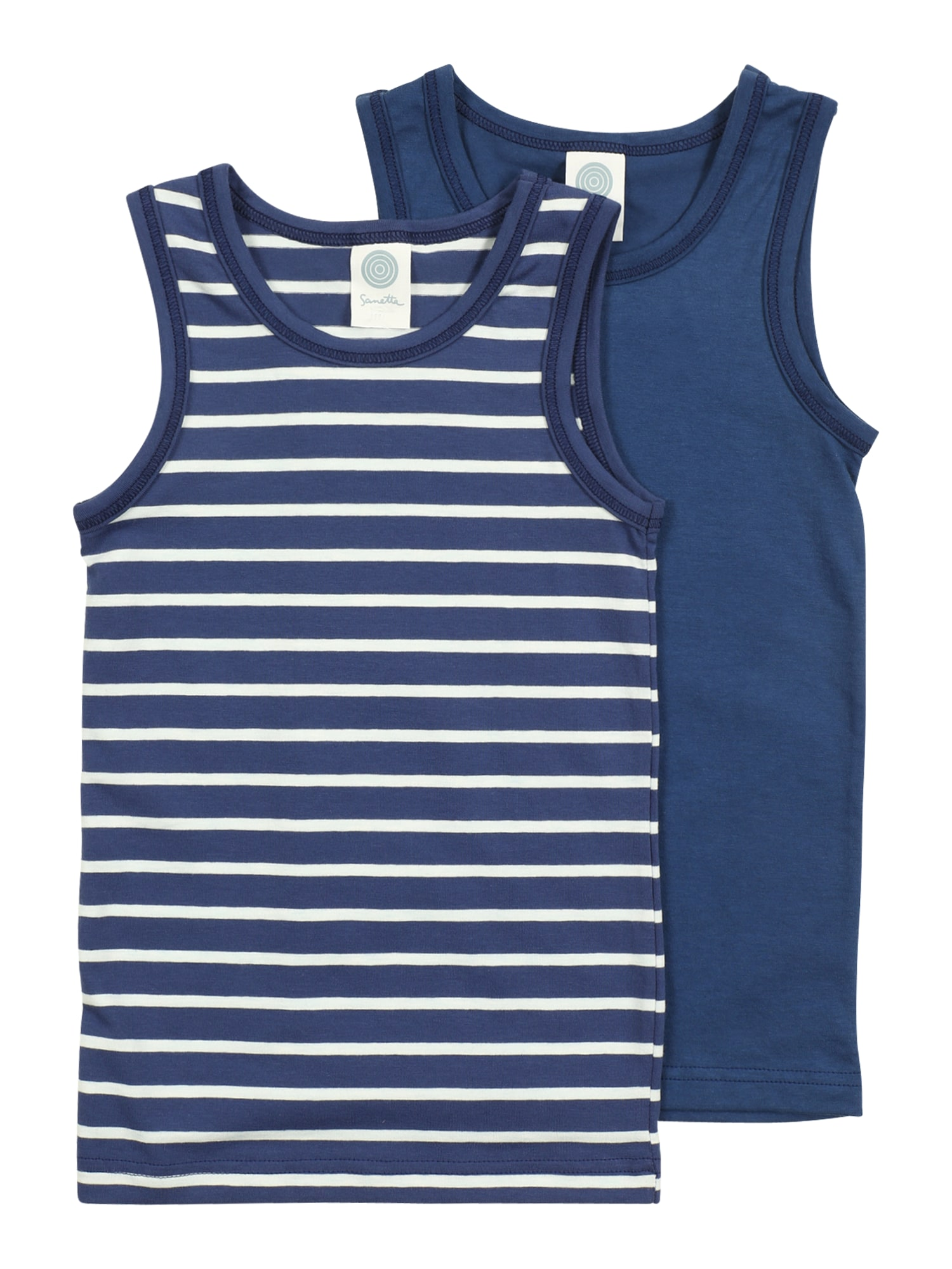 SANETTA Apatiniai marškinėliai mėlyna / balta
