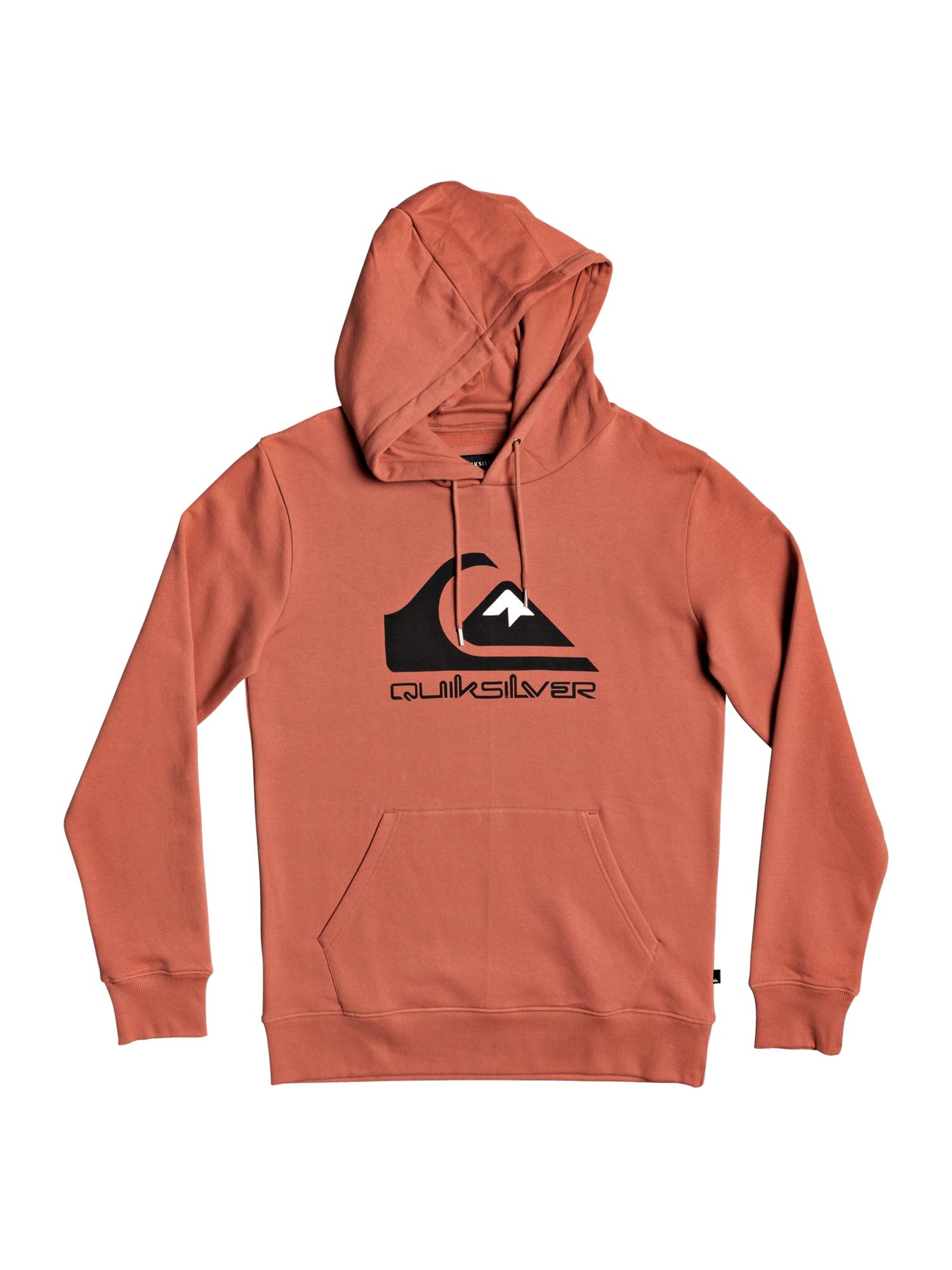 QUIKSILVER Sportinio tipo megztinis juoda / oranžinė