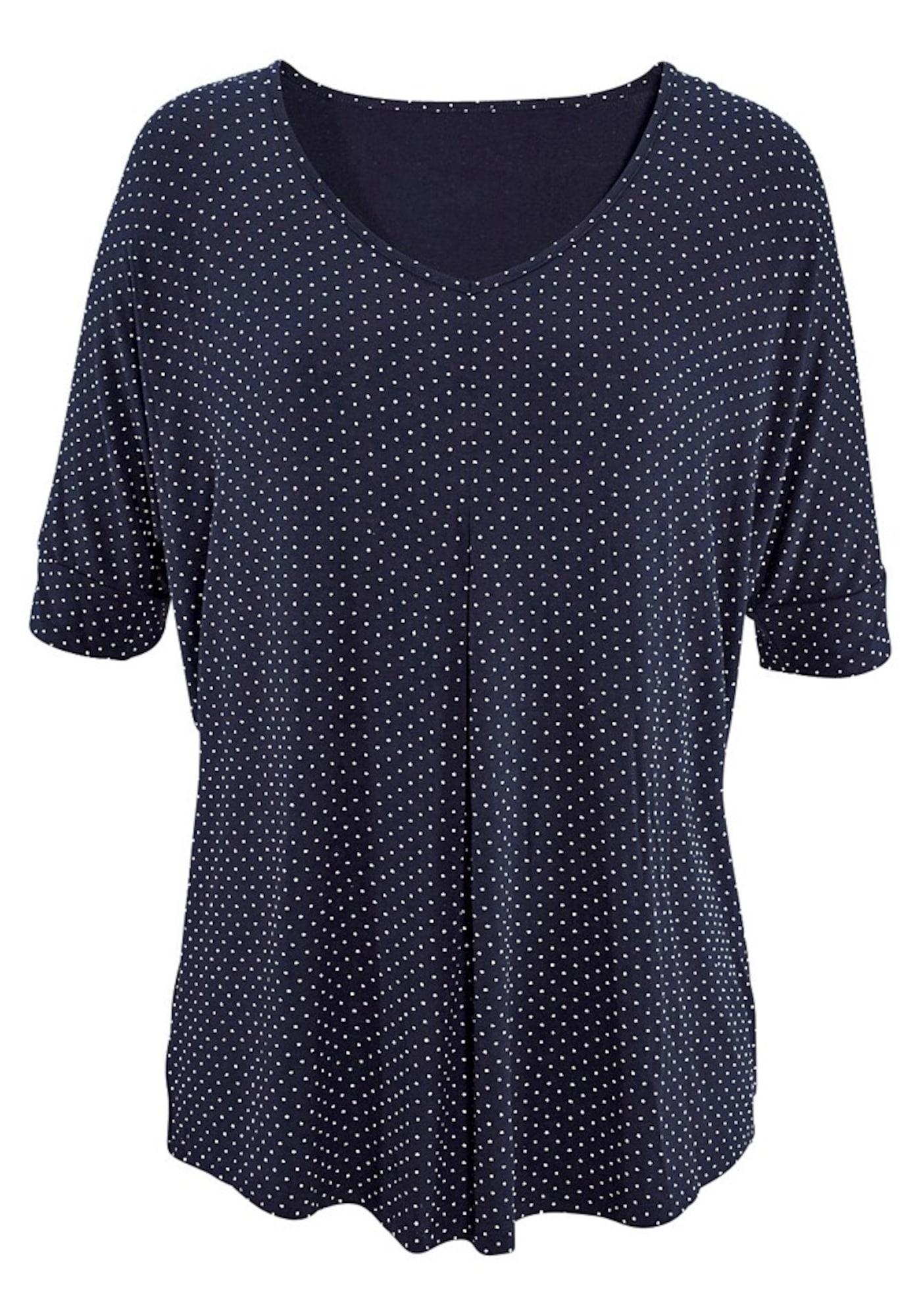 LASCANA Tričko  námornícka modrá / biela