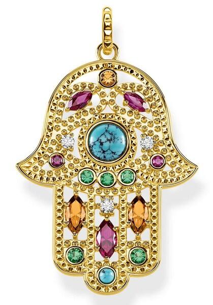 Ketten für Frauen - Thomas Sabo Anhänger 'Fatimas Hand, PE822 961 7' gold mischfarben  - Onlineshop ABOUT YOU