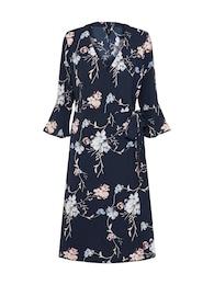Soyaconcept Damen sommerliches Kleid im Kimono-Stil blau | 05713072757332