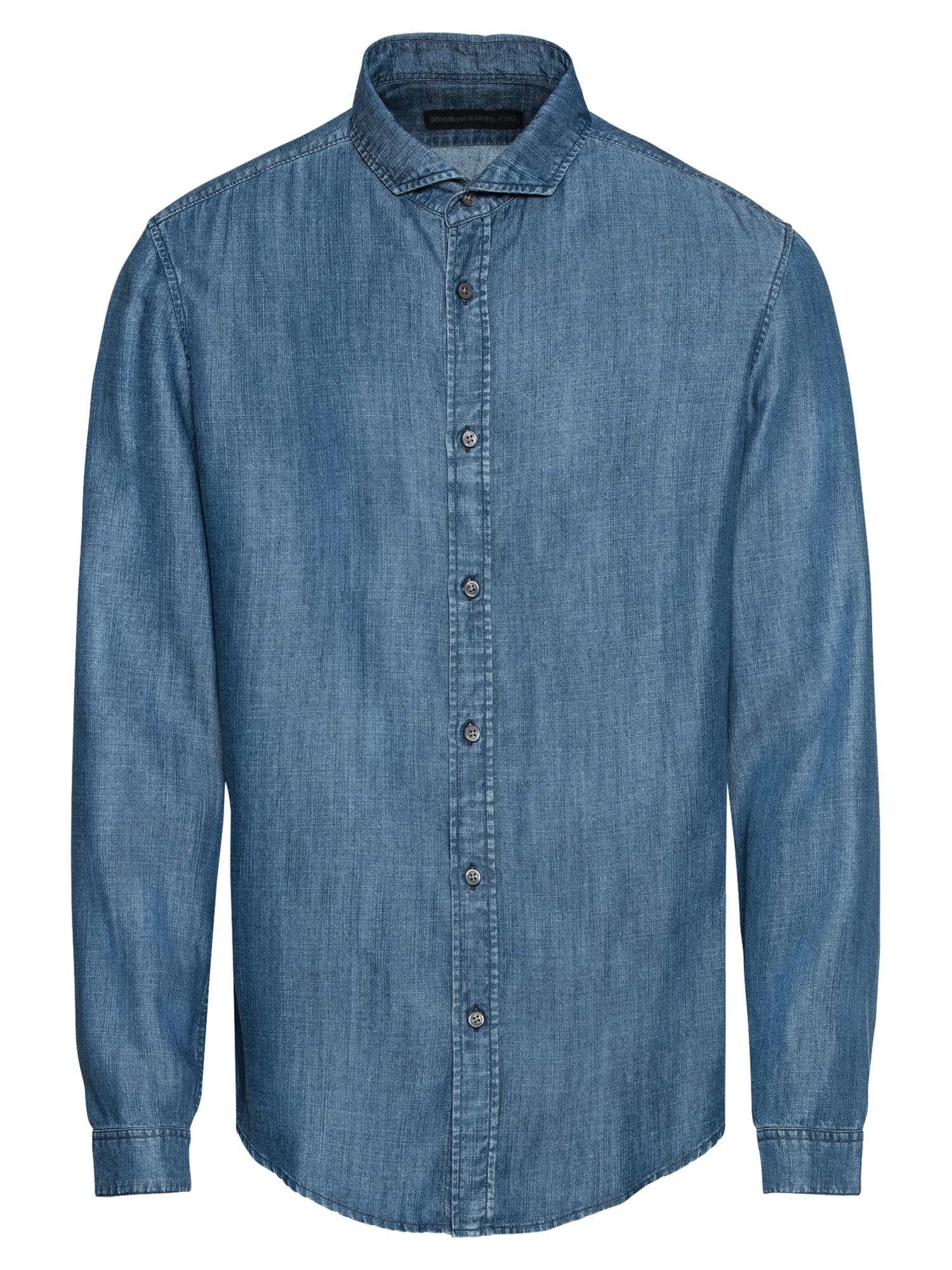 Košile SOLO modrá džínovina DRYKORN