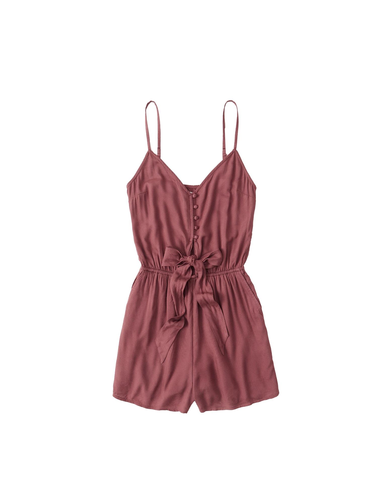 Abercrombie & Fitch Kombinezono tipo kostiumas 'TIE-FRONT' raudona