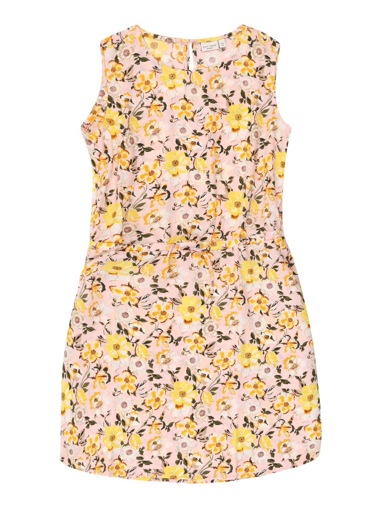 NAME IT Suknelė rožių spalva / šviesiai geltona