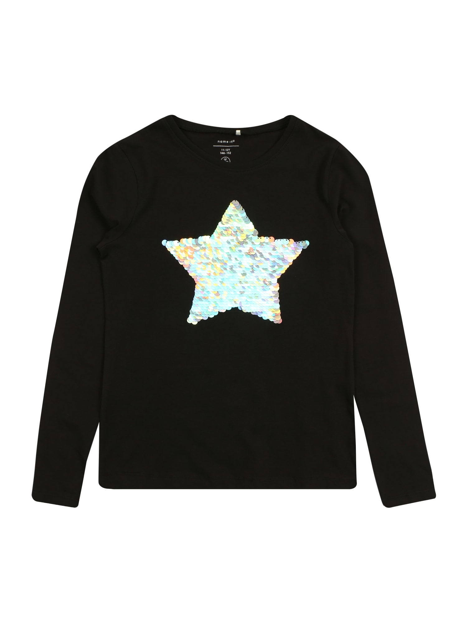 NAME IT Marškinėliai 'TASTAR' juoda