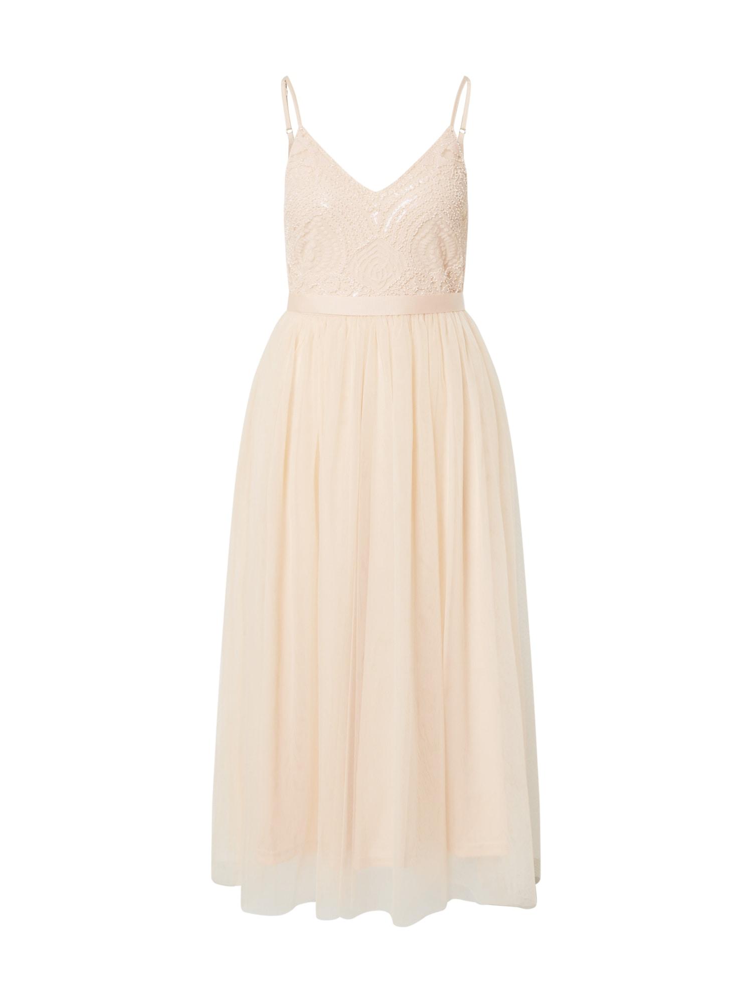 Forever Unique Koktejlové šaty  broskvová