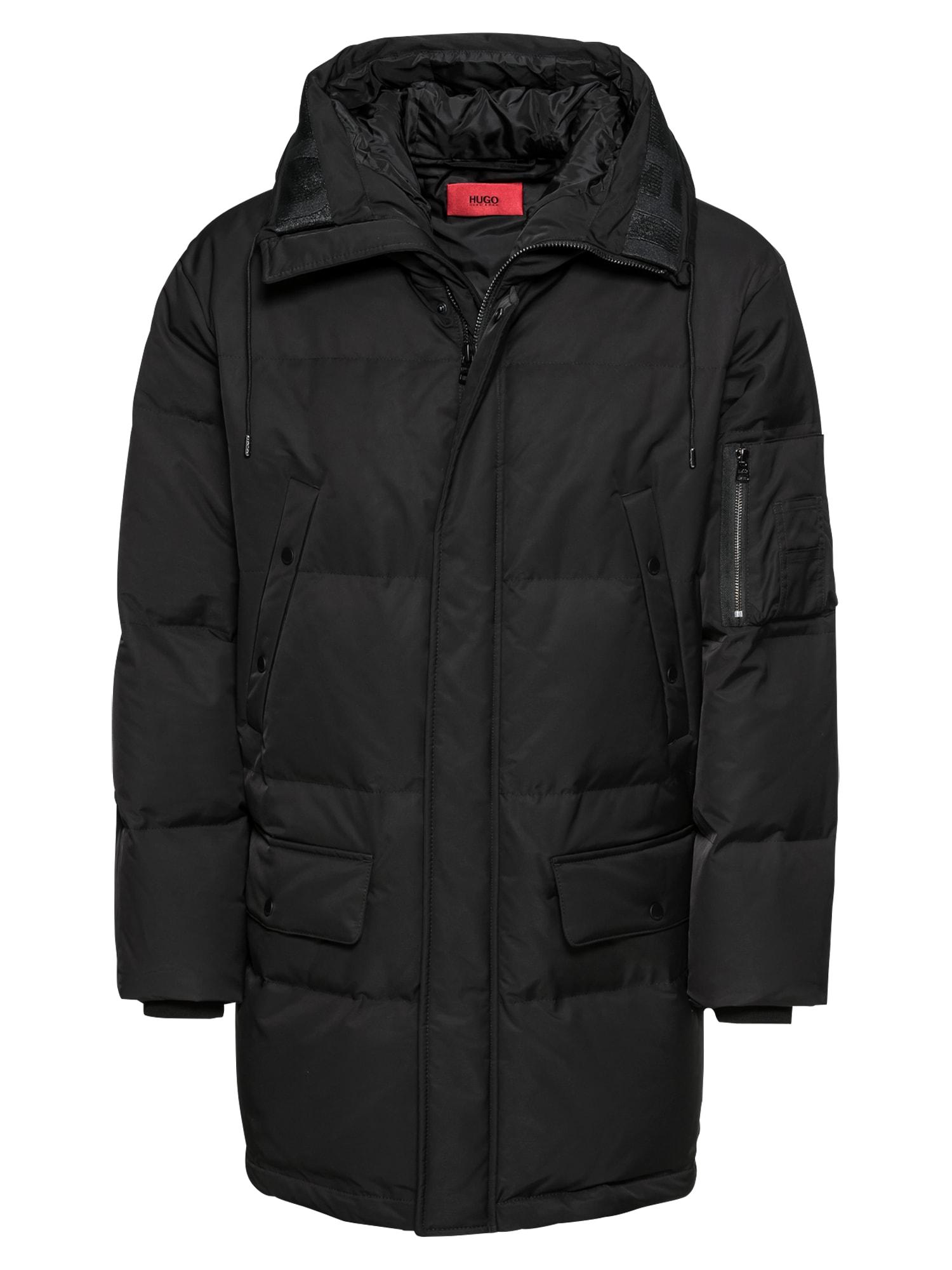 HUGO Žieminis paltas 'Belmu1841 10209076 01' juoda