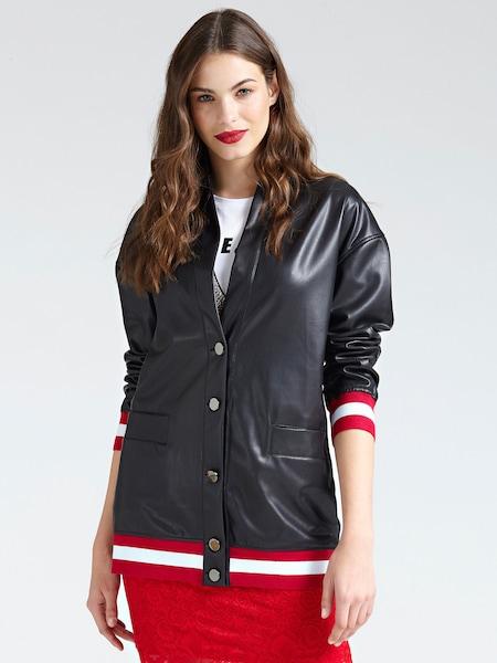 Jacken für Frauen - GUESS Bomberjacke hellrot schwarz weiß  - Onlineshop ABOUT YOU