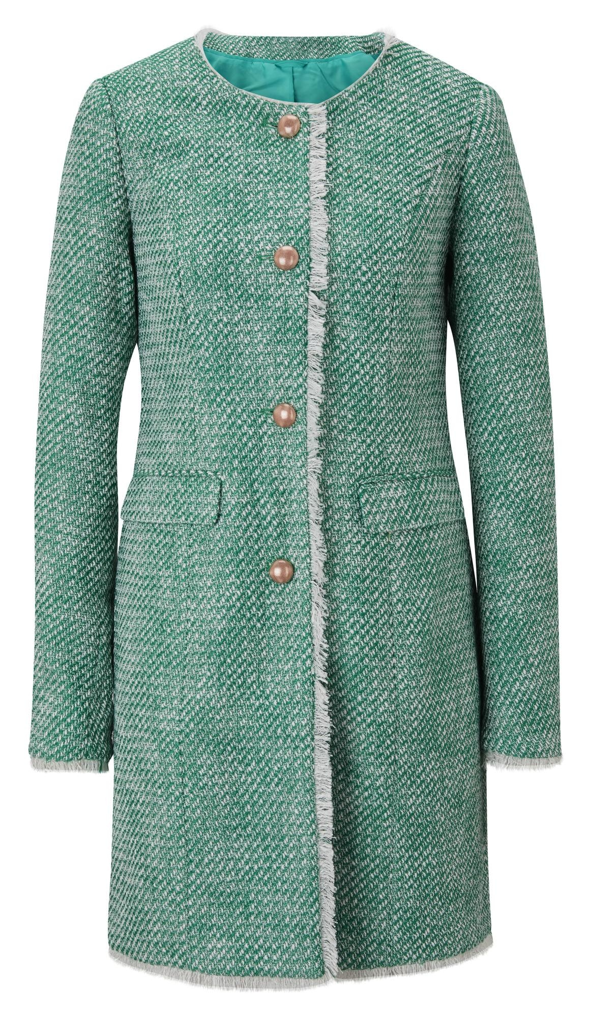heine Demisezoninis paltas žalia / balta