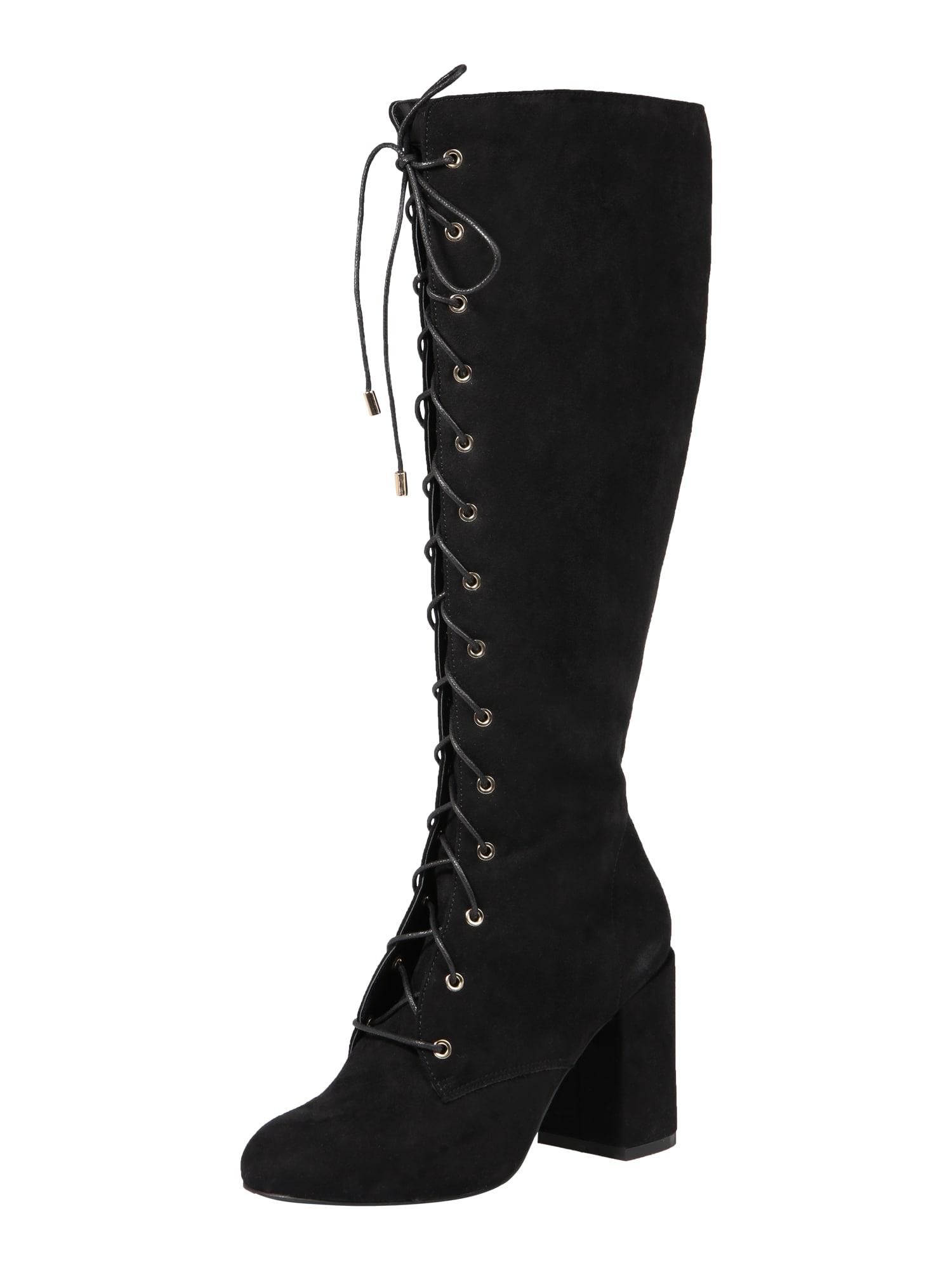 ABOUT YOU Auliniai batai su kulniuku 'Femke' juoda