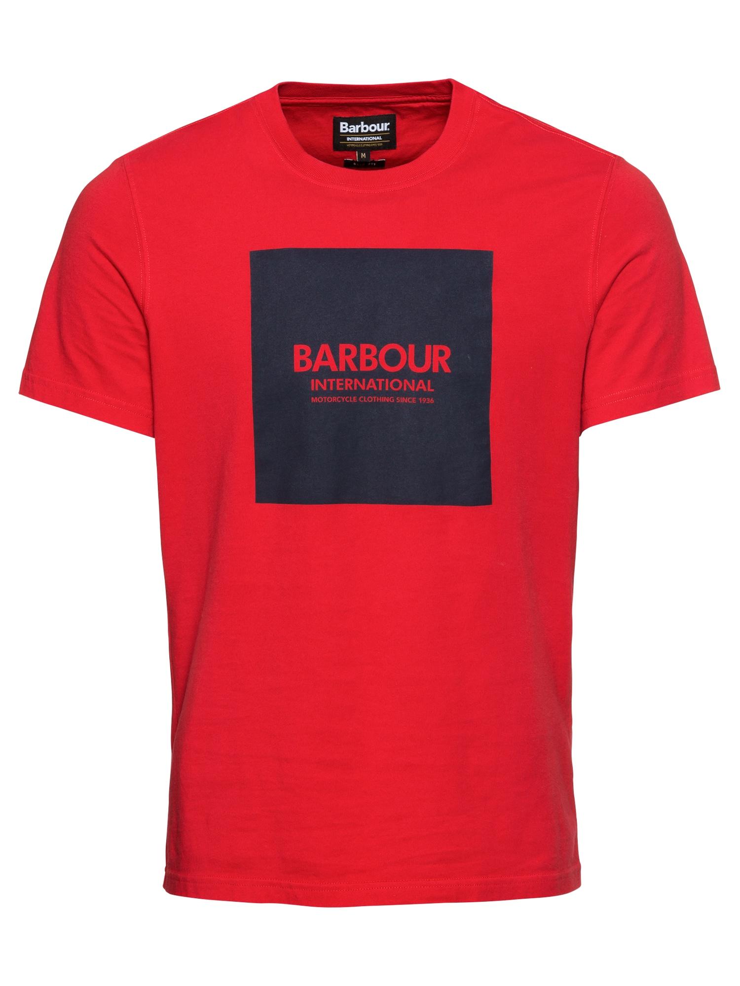 Tričko Block Tee červená černá Barbour International