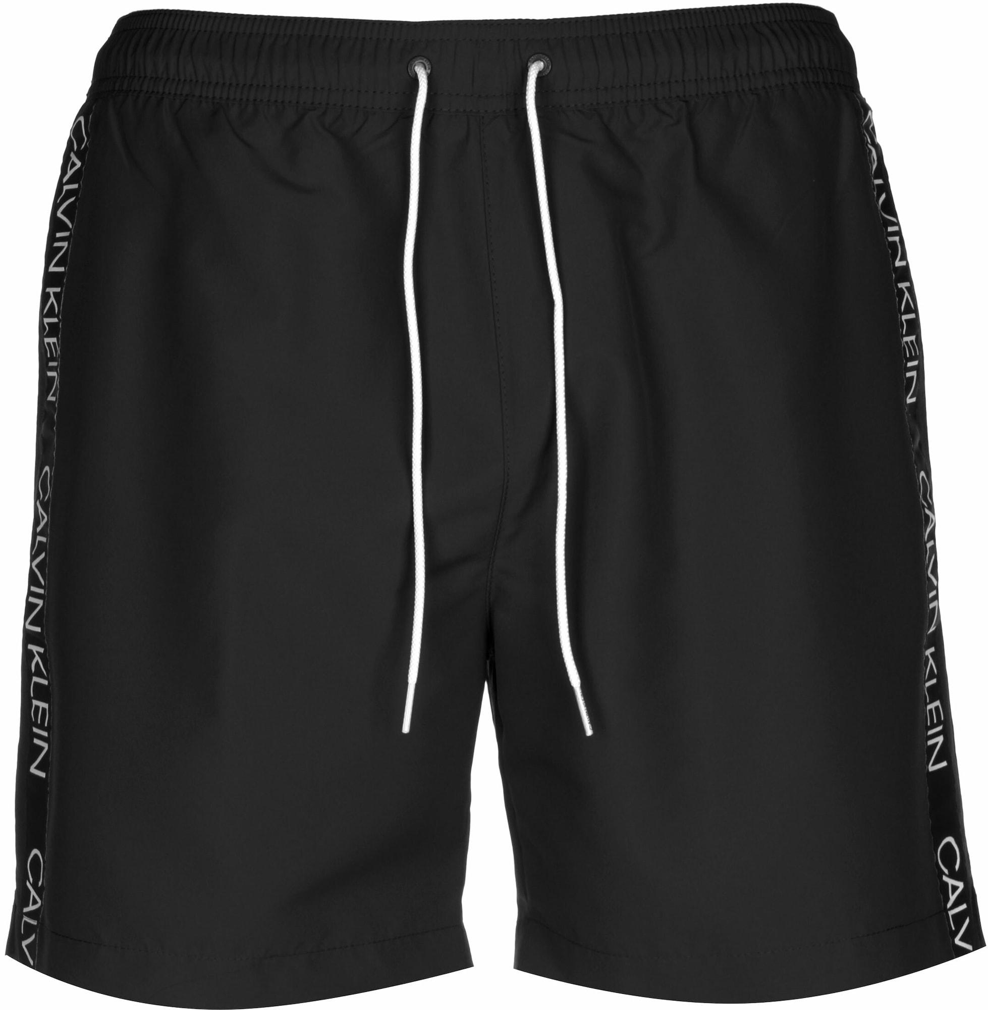 Calvin Klein Swimwear Maudymosi trumpikės margai juoda / balta