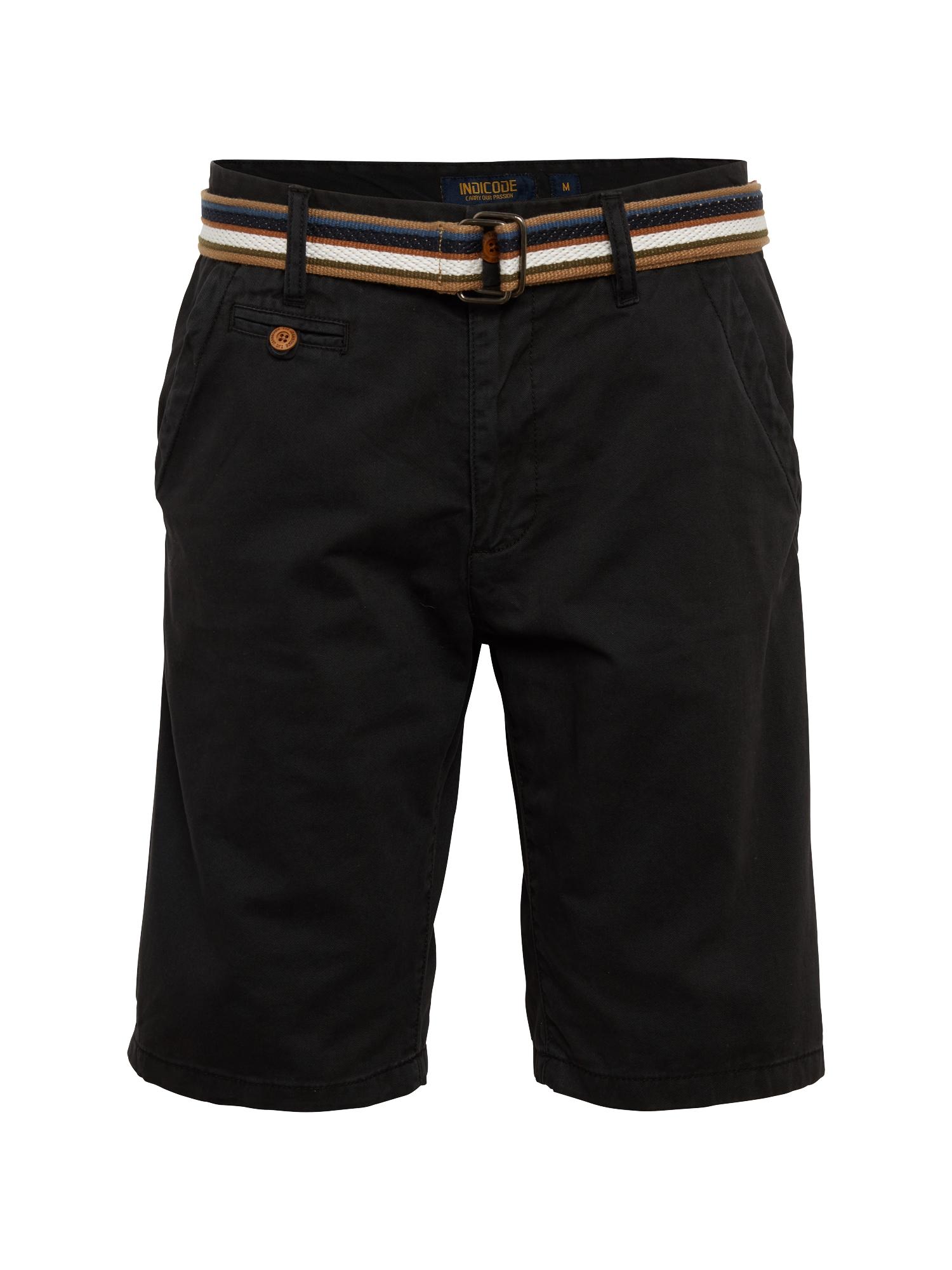 INDICODE JEANS Chino stiliaus kelnės 'Royce' juoda