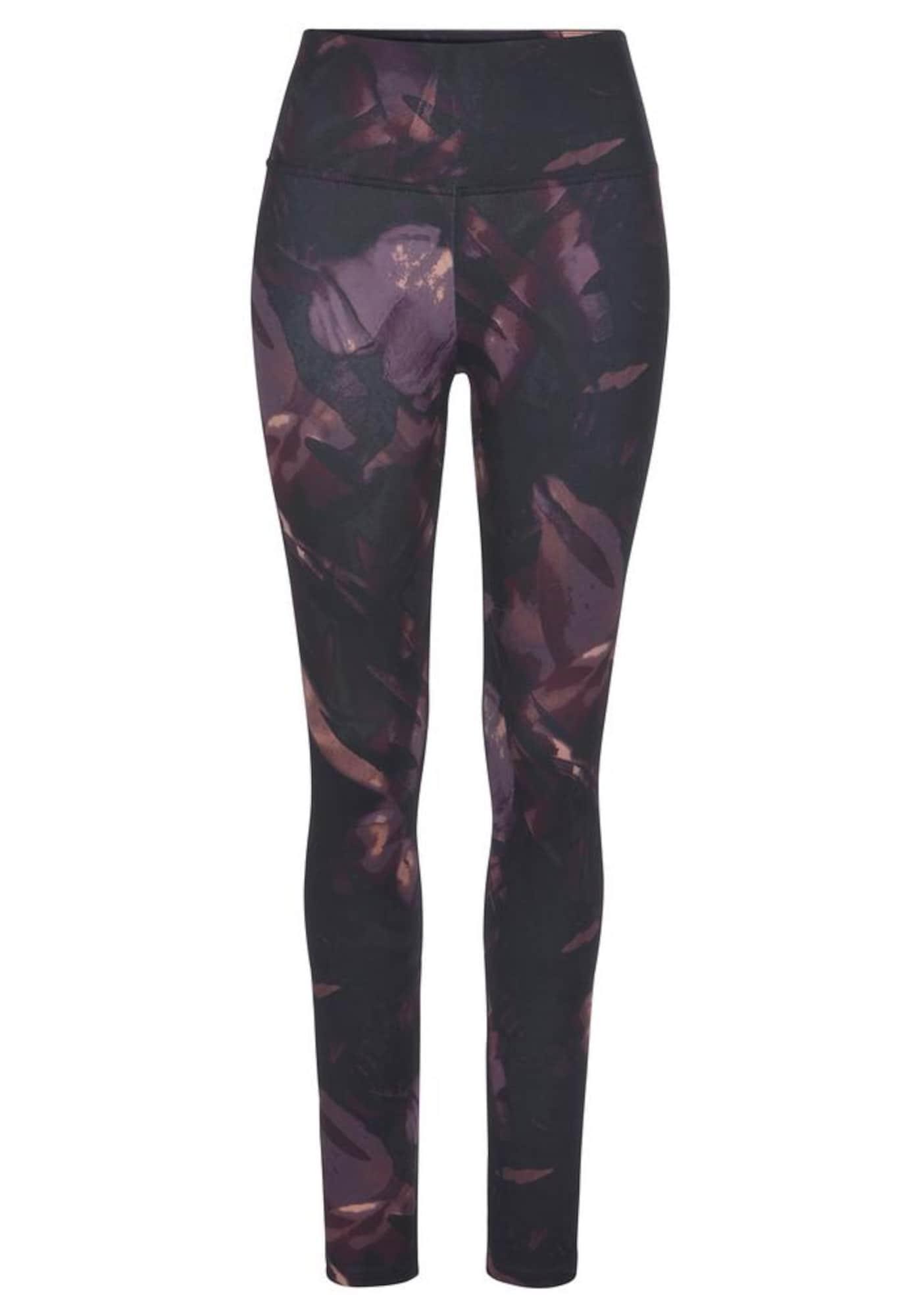 LASCANA ACTIVE Sportinės kelnės purpurinė / mišrios spalvos