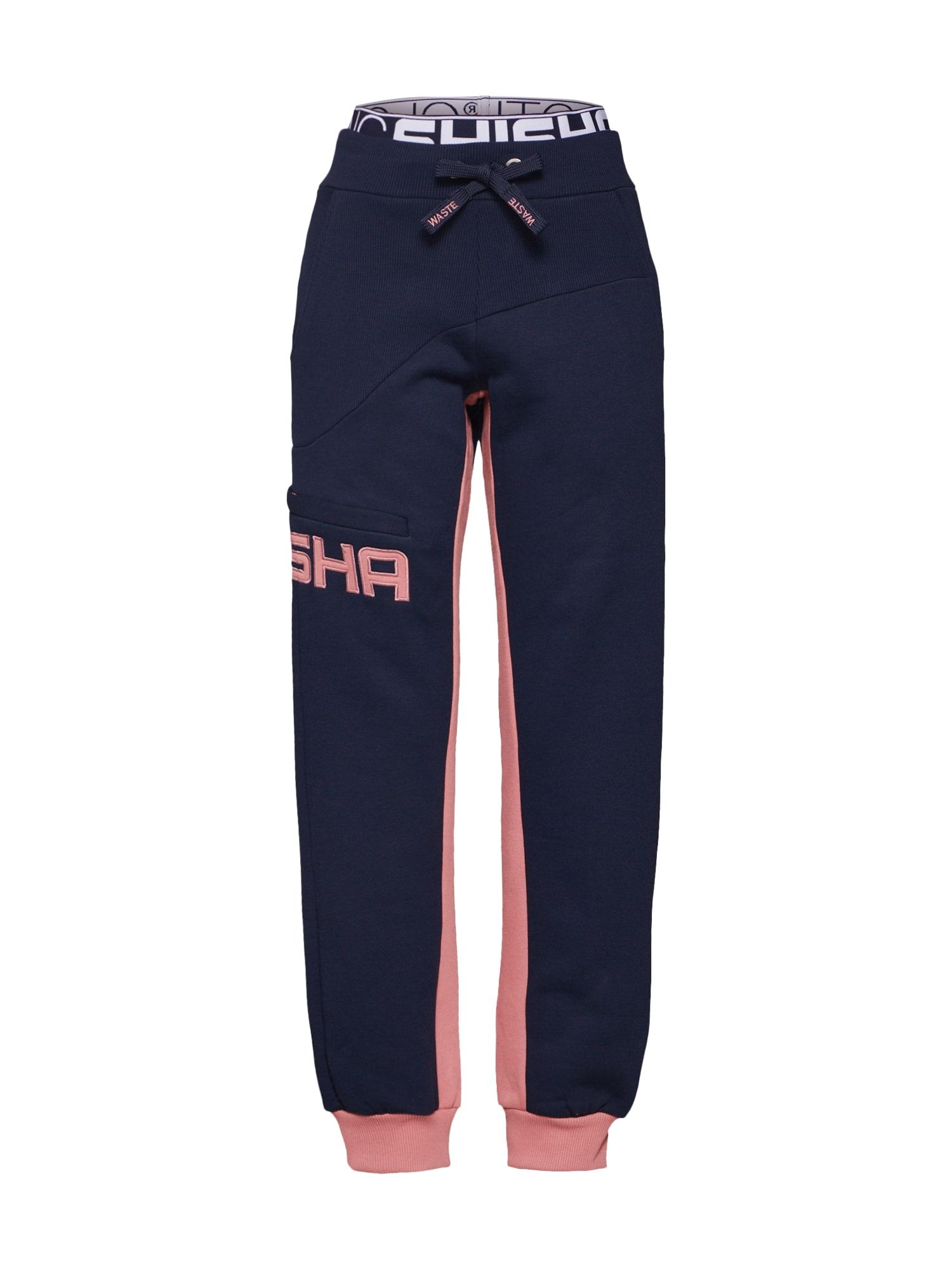 Kalhoty SUNDAG námořnická modř růžová SHISHA