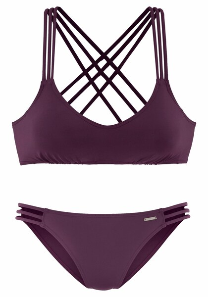 Bademode für Frauen - BRUNO BANANI Bikini bordeaux  - Onlineshop ABOUT YOU