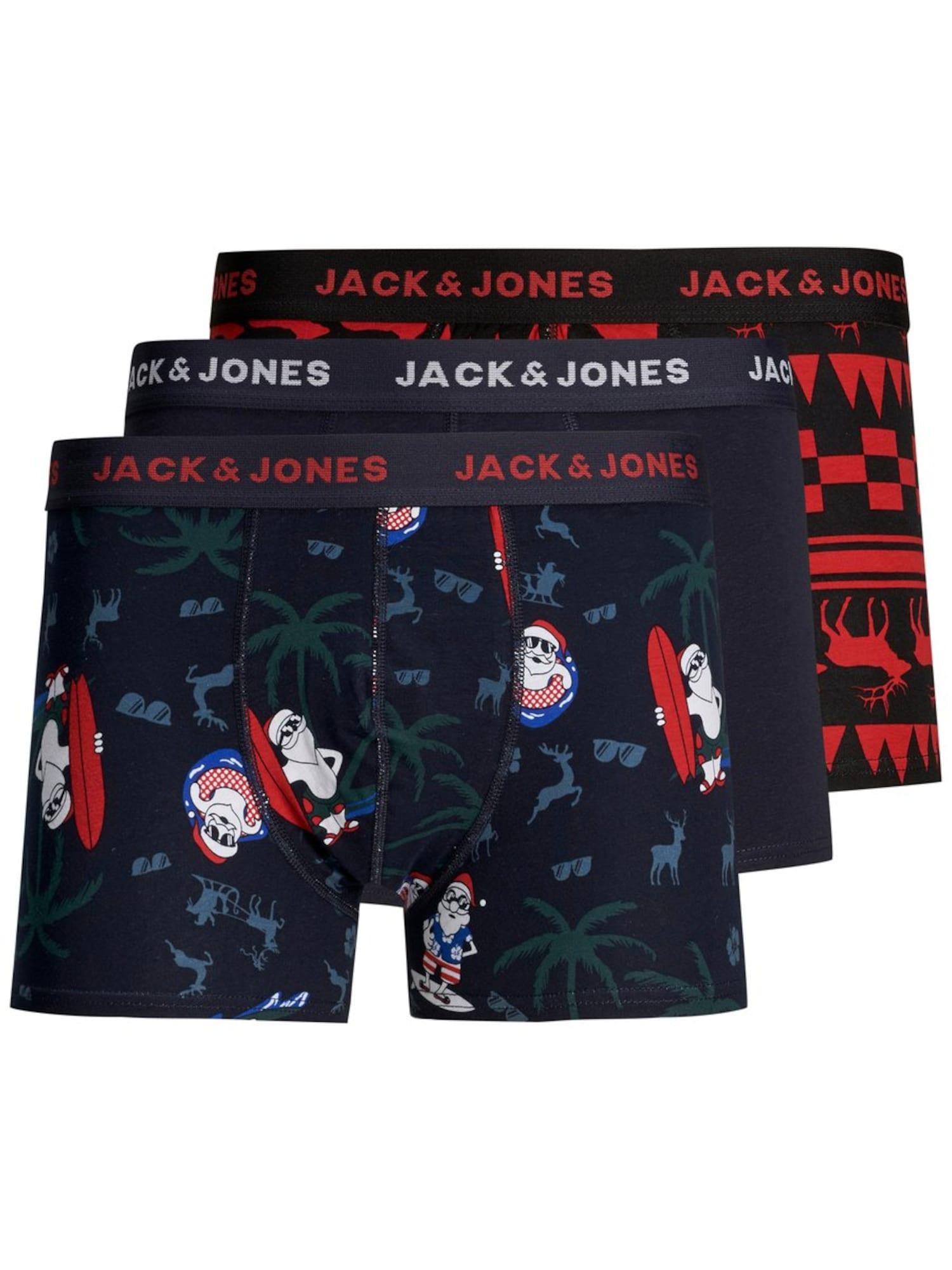 JACK & JONES Boxerky 'JACSTEF'  námornícka modrá / tmavomodrá / zmiešané farby