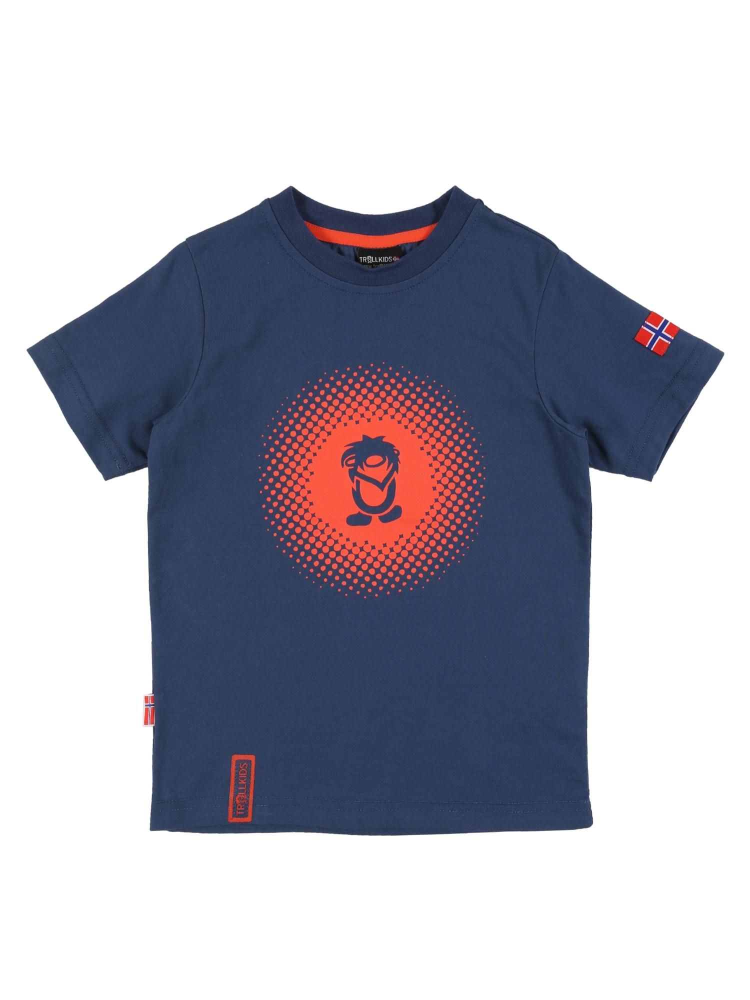 TROLLKIDS Tričko  modré / oranžová