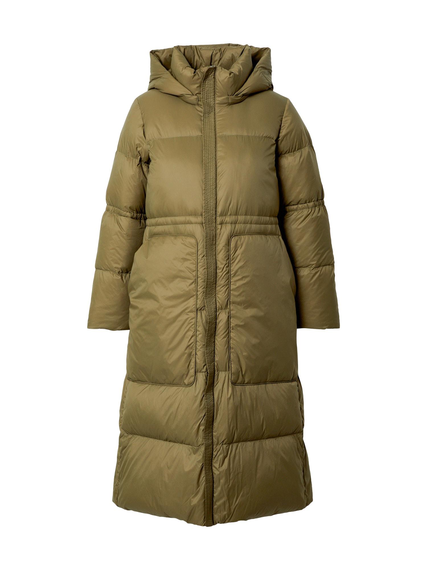 JNBY Žieminis paltas alyvuogių spalva