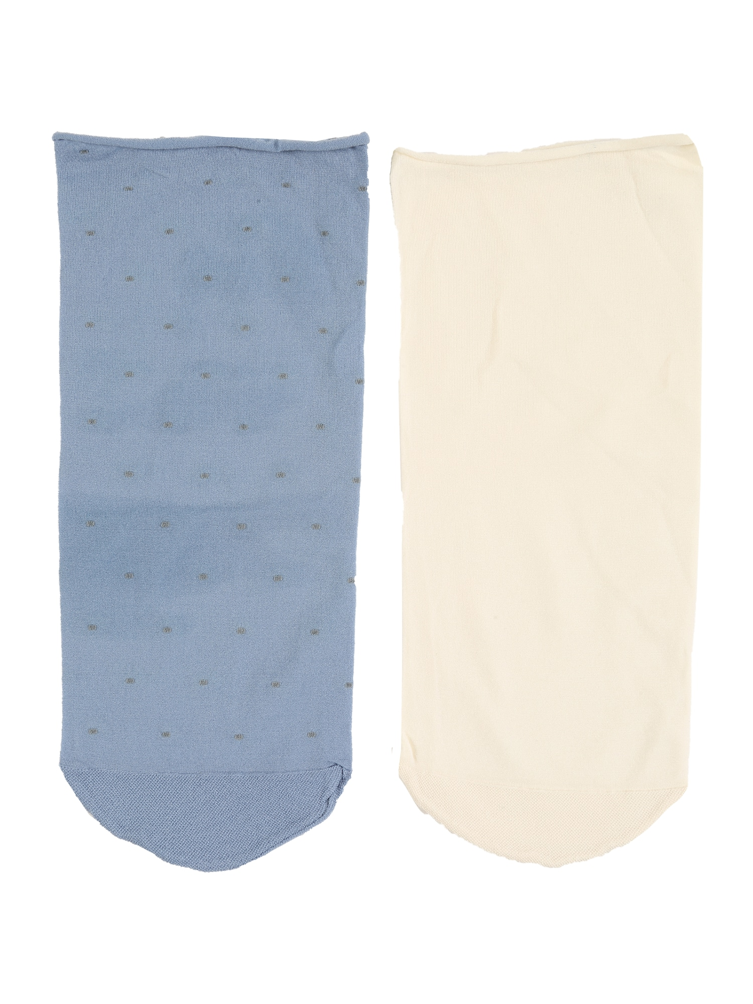 Swedish Stockings Kojinės 'Judith dots sock 2pack' smėlio / mėlyna