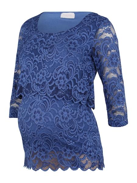 Schwangerschaftsmode - Shirts 'MLMIVANE JUNE 3 4 LACE TOP COMBI A.' › Mamalicious › blau  - Onlineshop ABOUT YOU