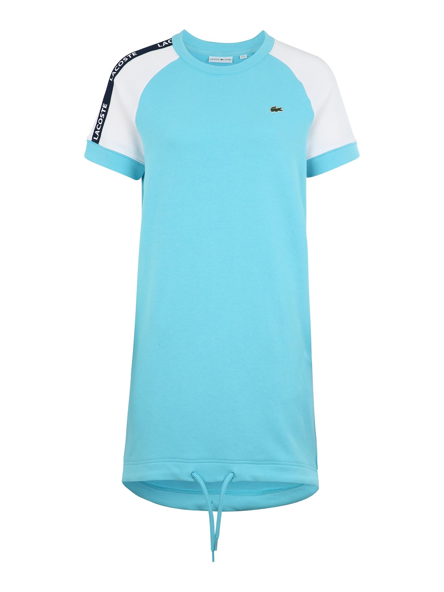 Lacoste Sport Sportiniai marškinėliai balta / vandens spalva