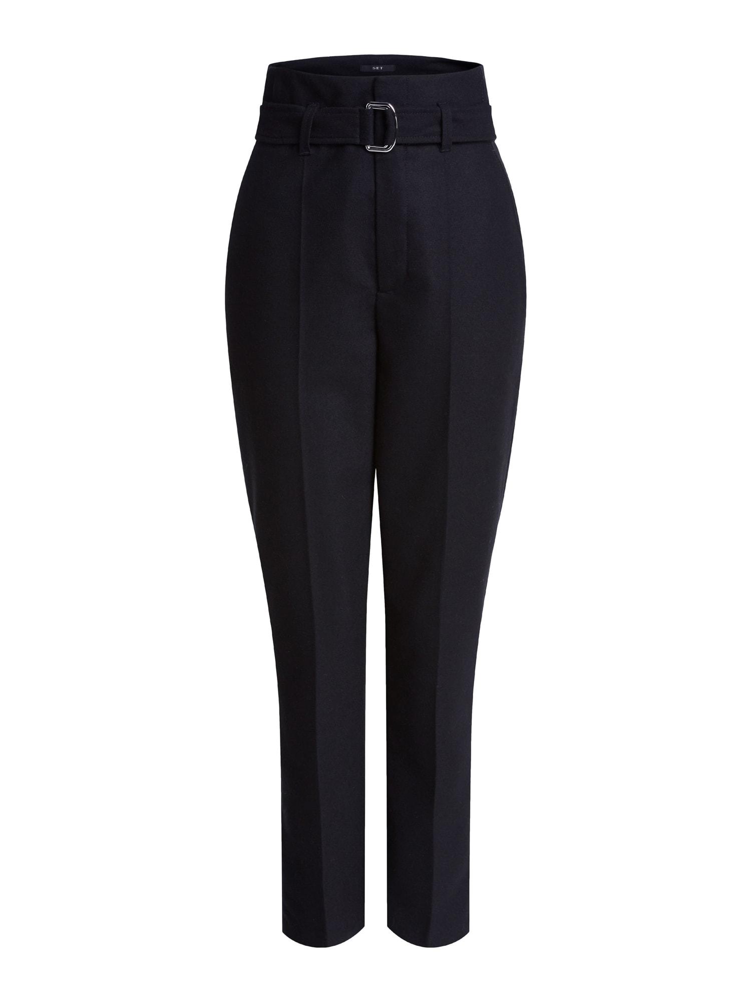 SET Kelnės su kantu juoda