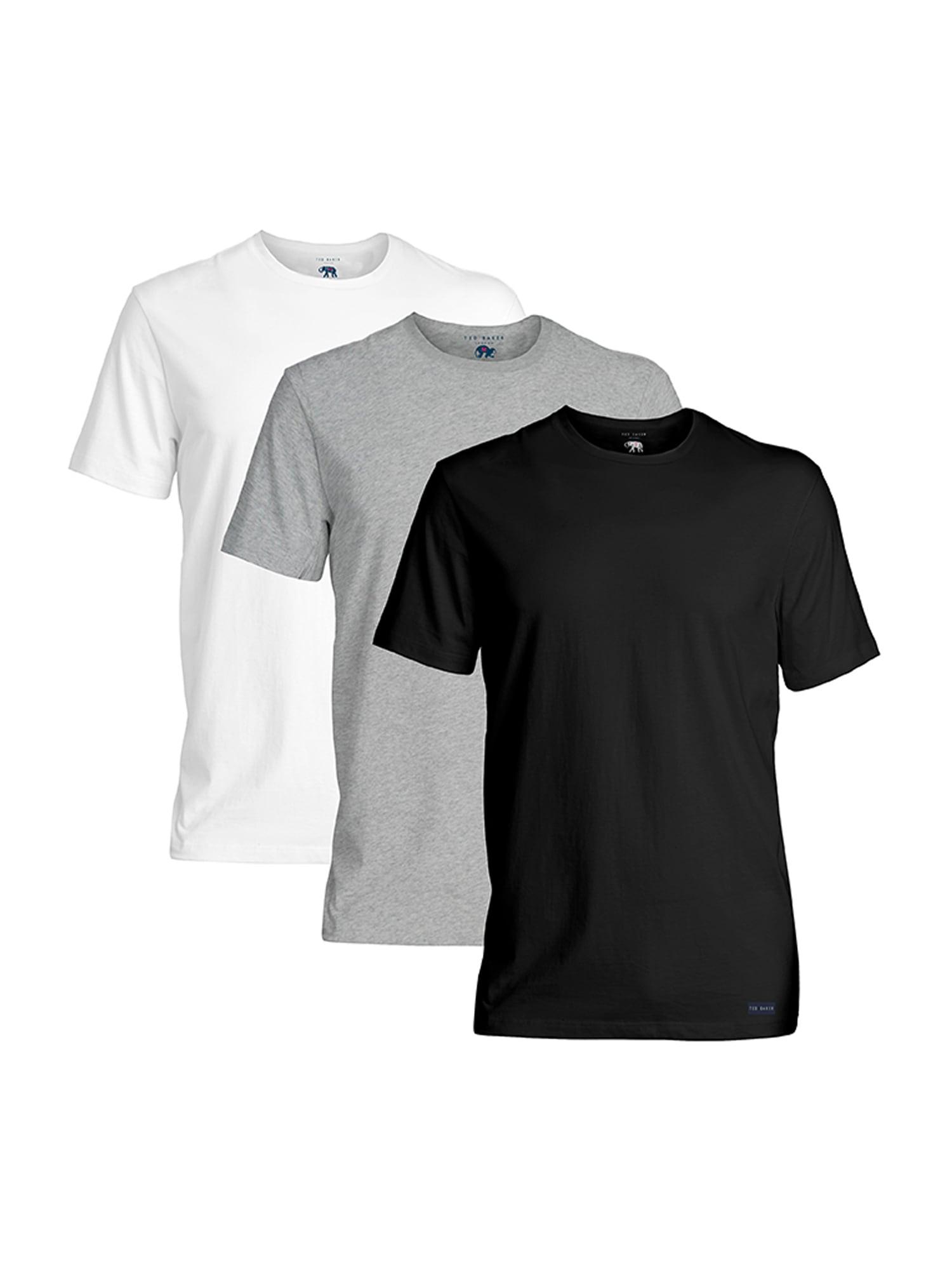 Ted Baker Apatiniai marškinėliai juoda / balta / margai pilka