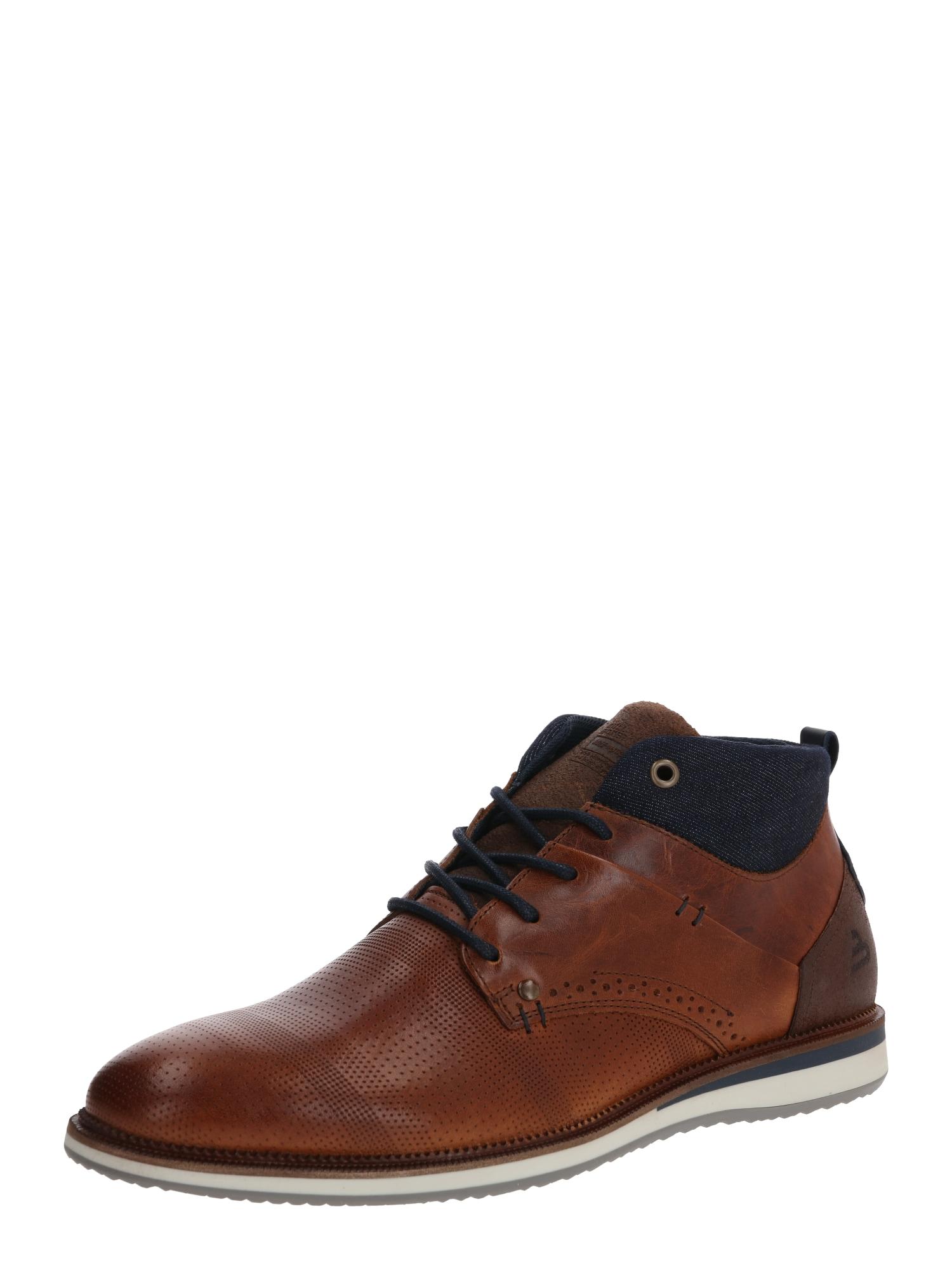 BULLBOXER Sportinio stiliaus batai su raišteliais ruda