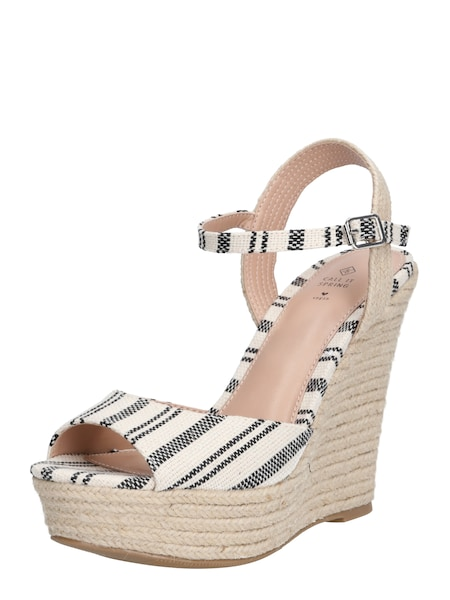 Highheels - Sandale 'METANINA' › CALL IT SPRING › beige hellbraun schwarz  - Onlineshop ABOUT YOU