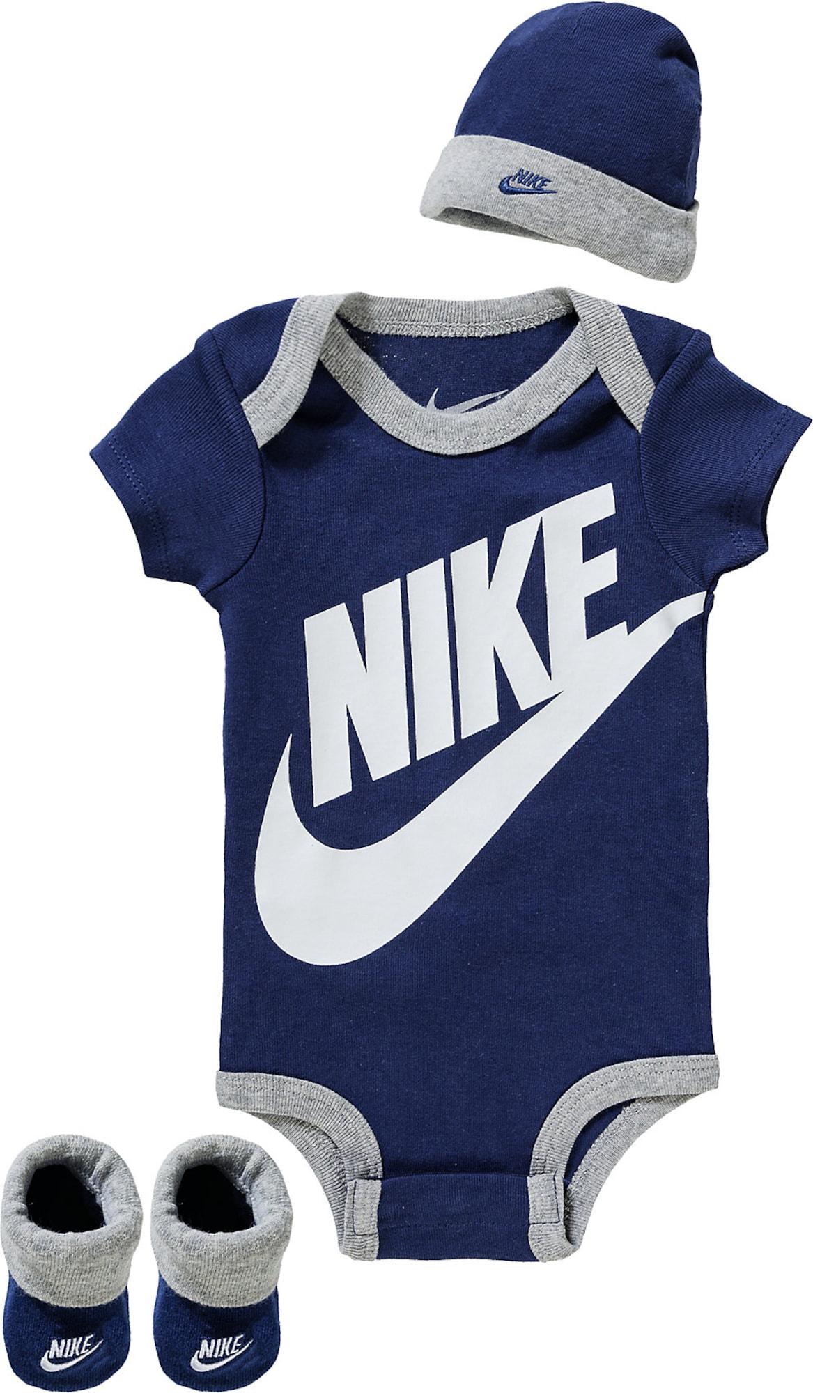 Nike Sportswear Apatinių komplektas tamsiai mėlyna / pilka / balta