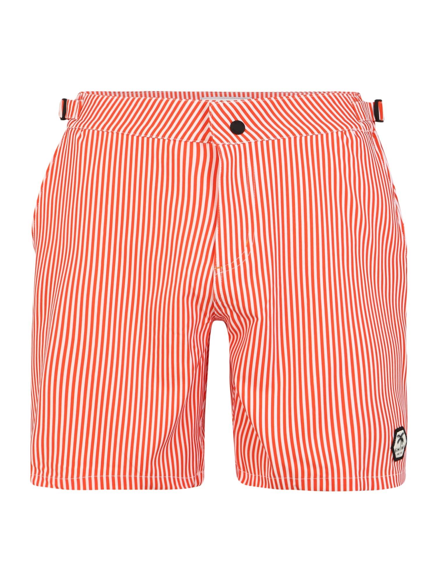 Shiwi Plavecké šortky 'Pinstripe'  svetločervená