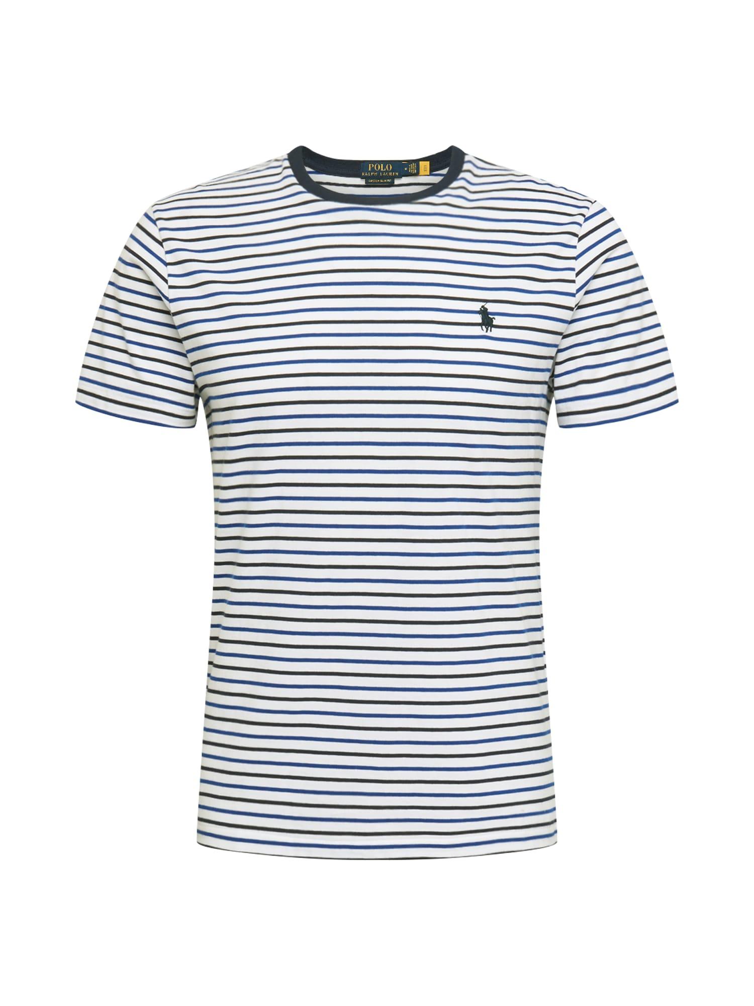POLO RALPH LAUREN Marškinėliai balta / nakties mėlyna / tamsiai mėlyna jūros spalva