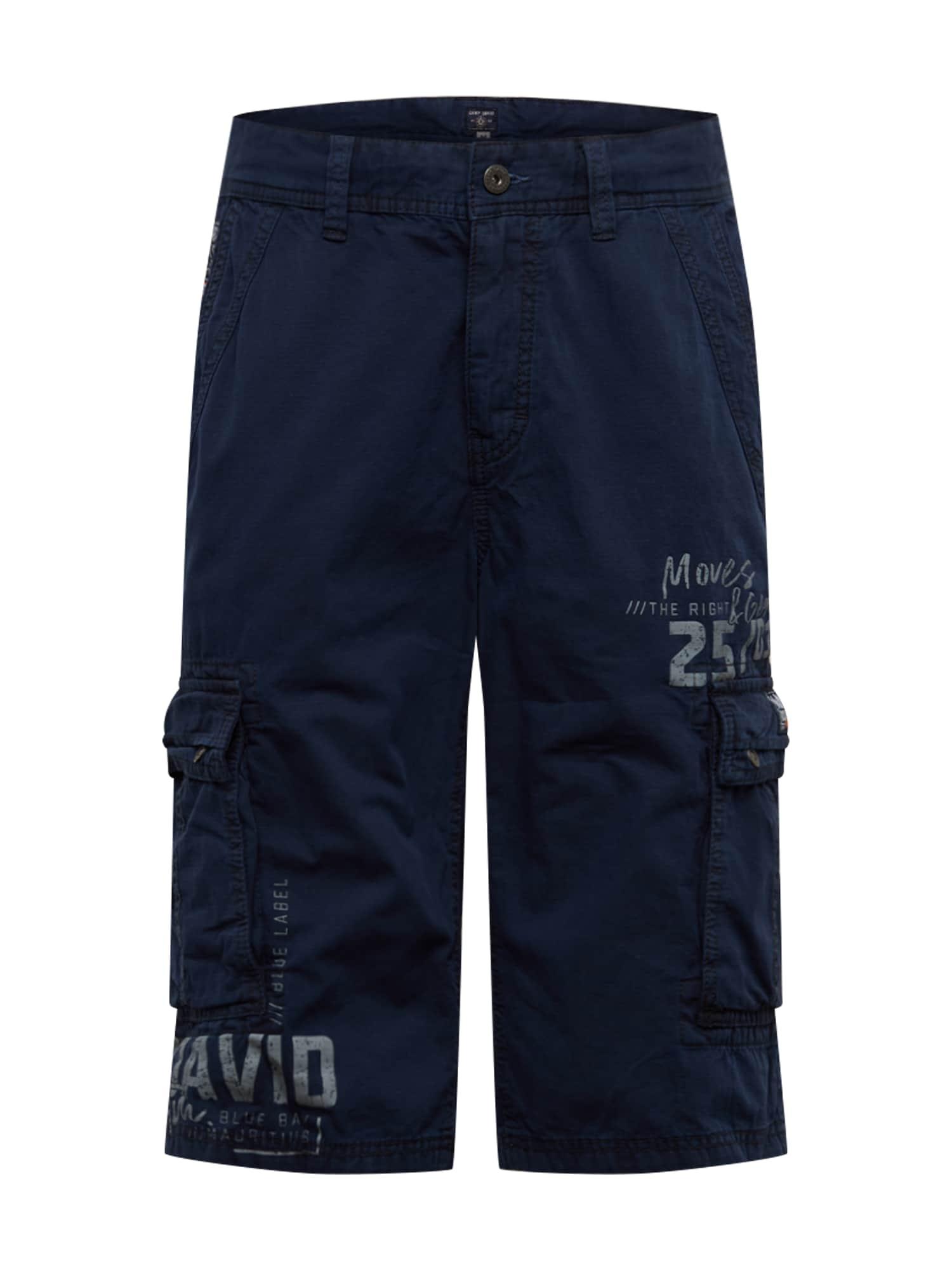 CAMP DAVID Laisvo stiliaus kelnės tamsiai mėlyna