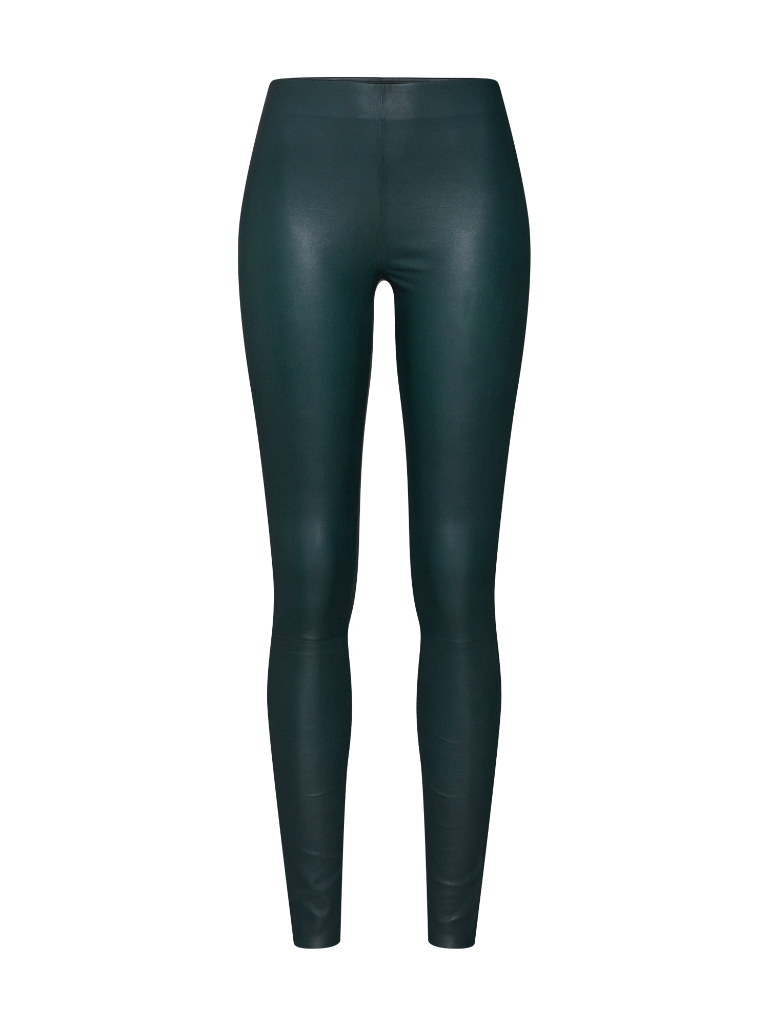 SELECTED FEMME Tamprės 'SLFSYLVIA MW STRETCH LEATHER LEGGIN' tamsiai žalia