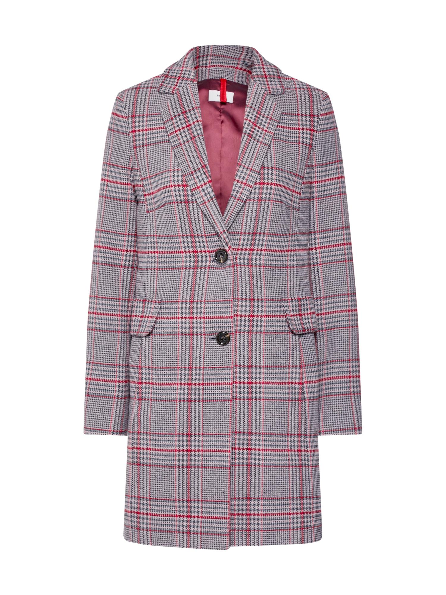 BRAX Rudeninis-žieminis paltas 'Porto' pilka / rožinė