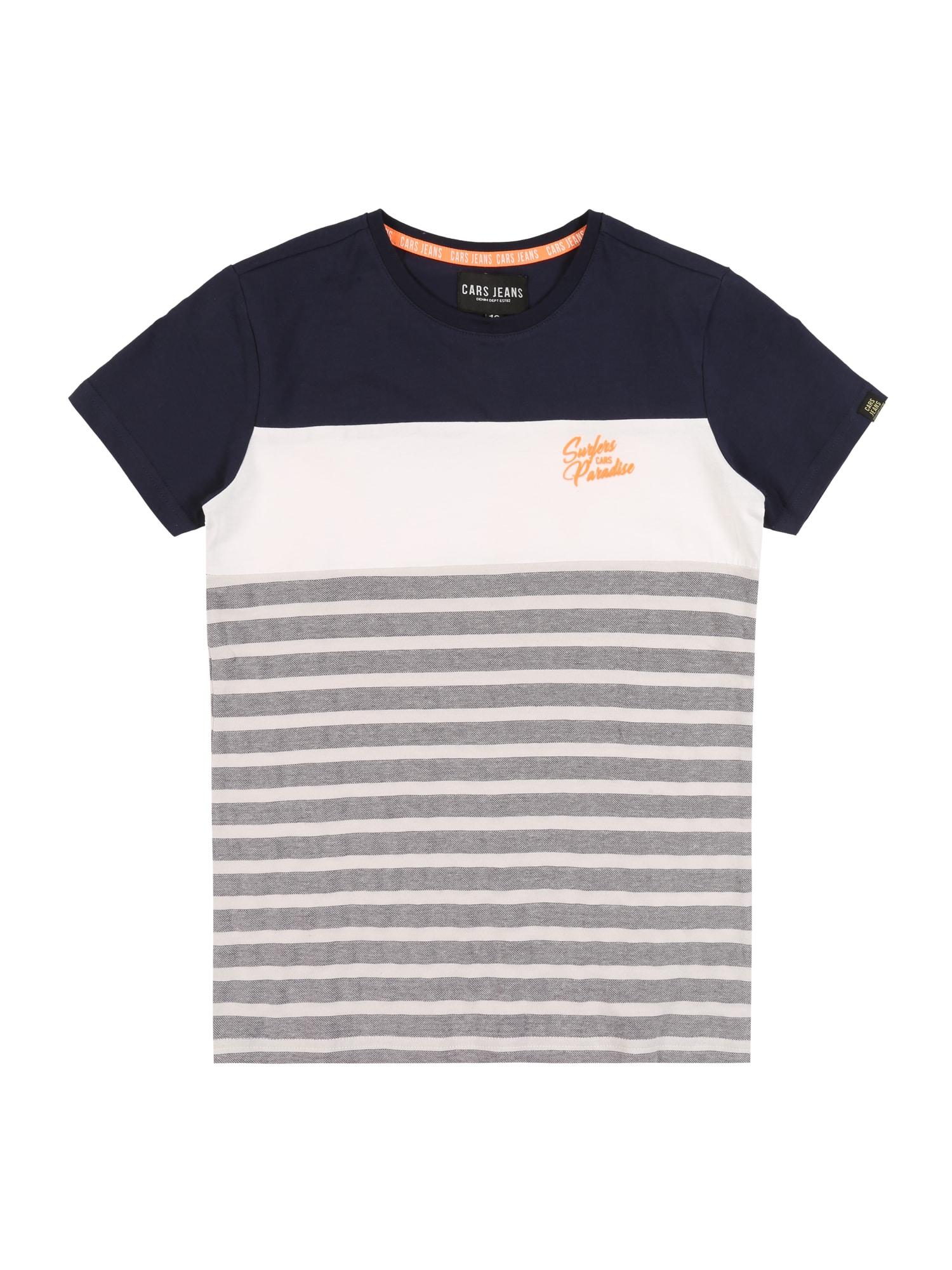 Cars Jeans Marškinėliai balta / tamsiai mėlyna