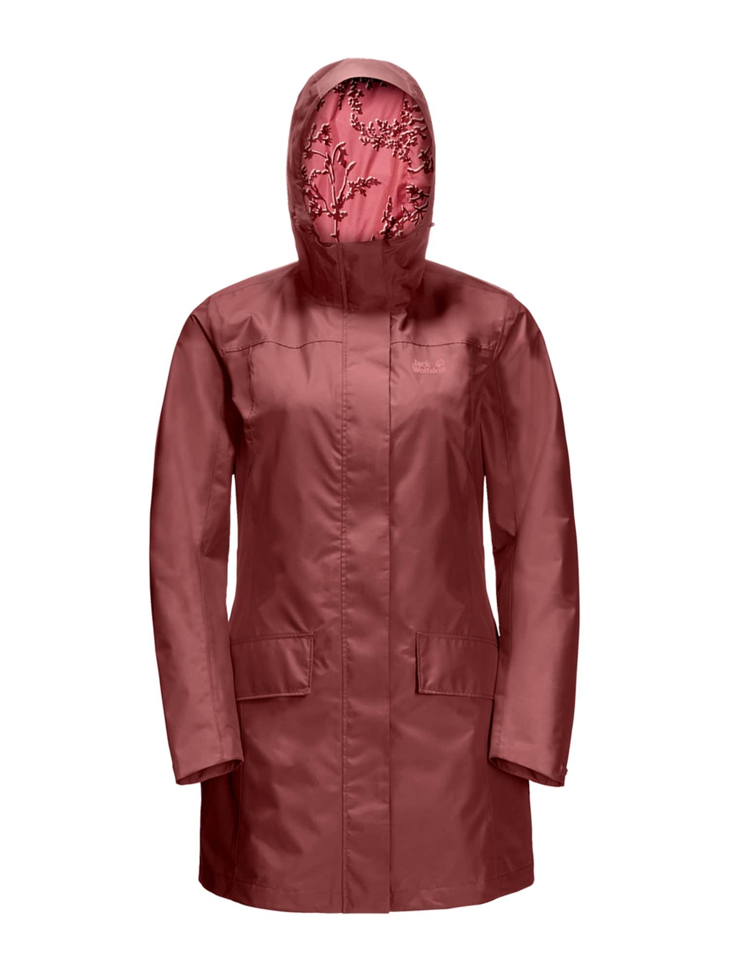 JACK WOLFSKIN Outdoorová bunda 'YORK'  rezavě červená
