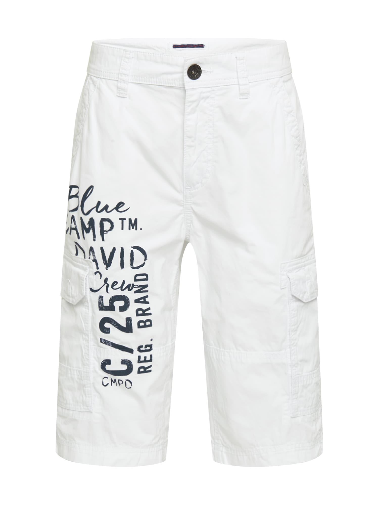 CAMP DAVID Laisvo stiliaus kelnės balta / juoda