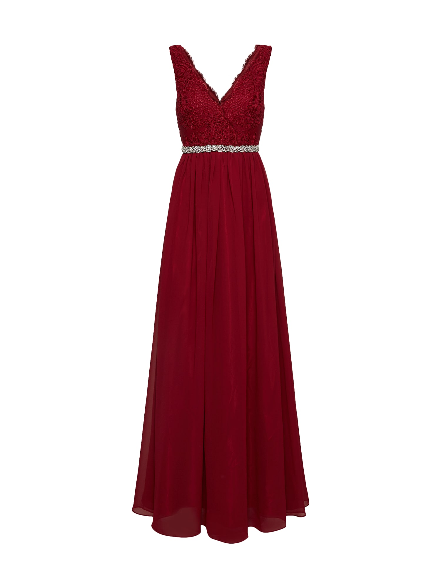 mascara Vakarinė suknelė vyno raudona spalva
