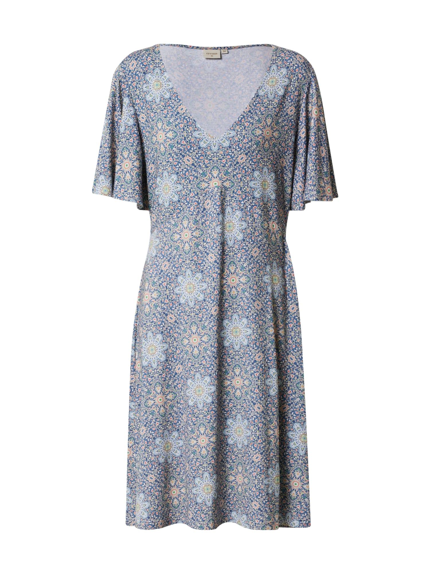 Cream Vasarinė suknelė 'Ava' vilnos balta / mėlyna dūmų spalva