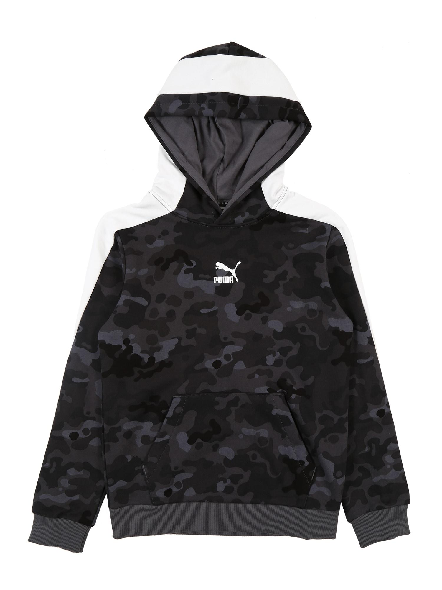 PUMA Sportinio tipo megztinis pilka / tamsiai pilka / juoda