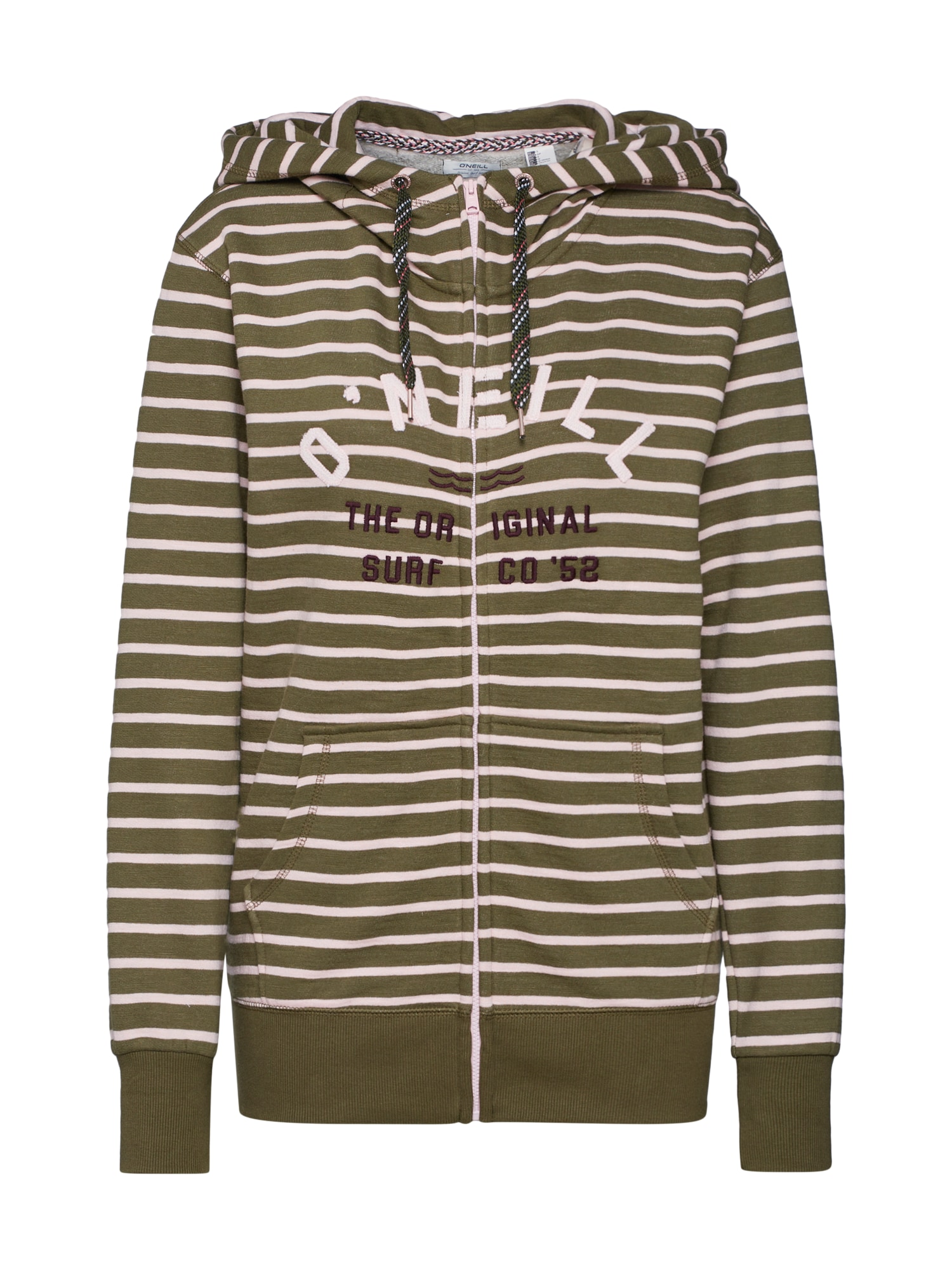 O'NEILL Džemperis 'LW EASY FANTASTIC FZ HOODIE' alyvuogių spalva / pudros spalva