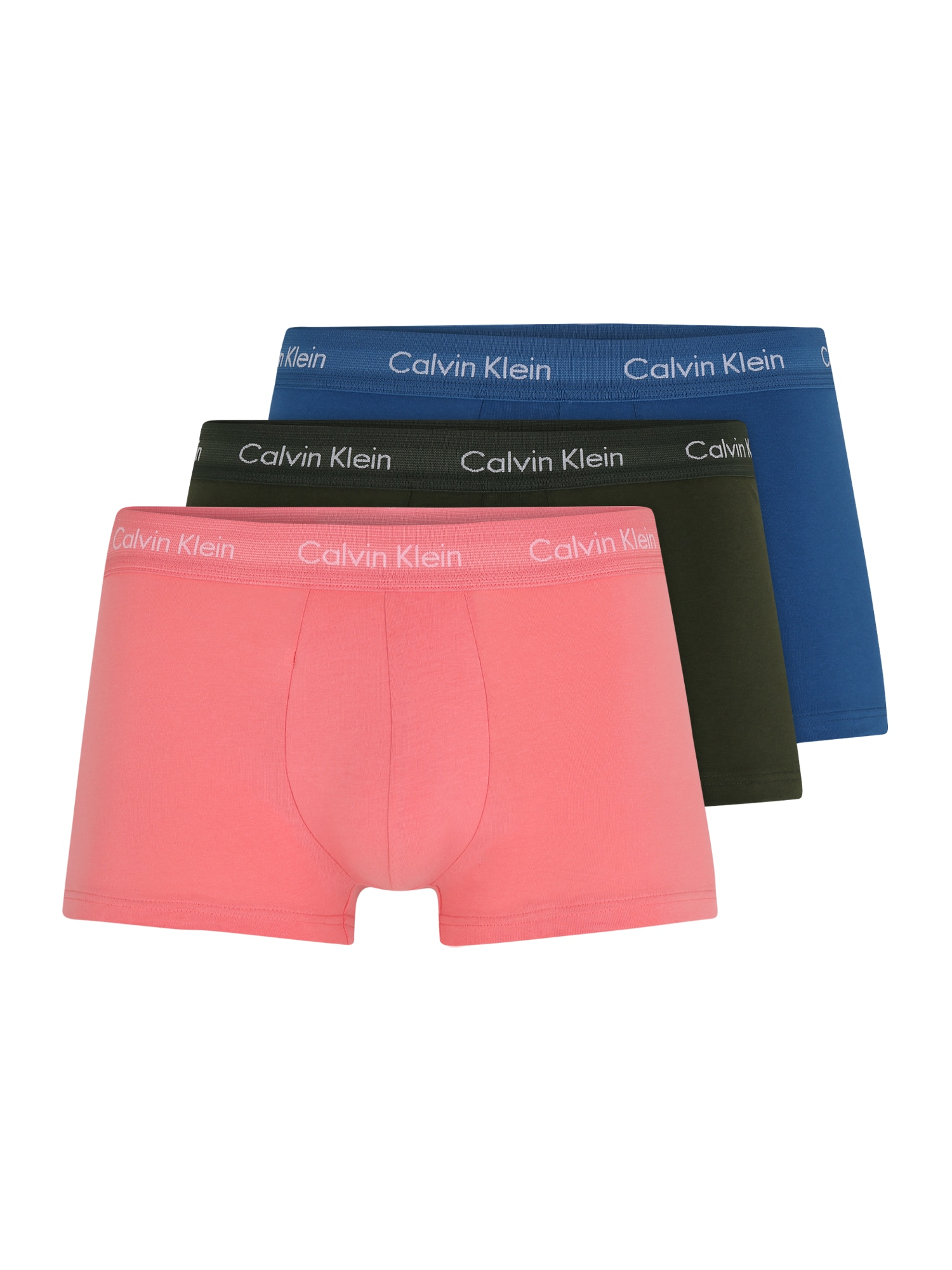 Calvin Klein Underwear Boxer trumpikės rožių spalva / mėlyna / žalia